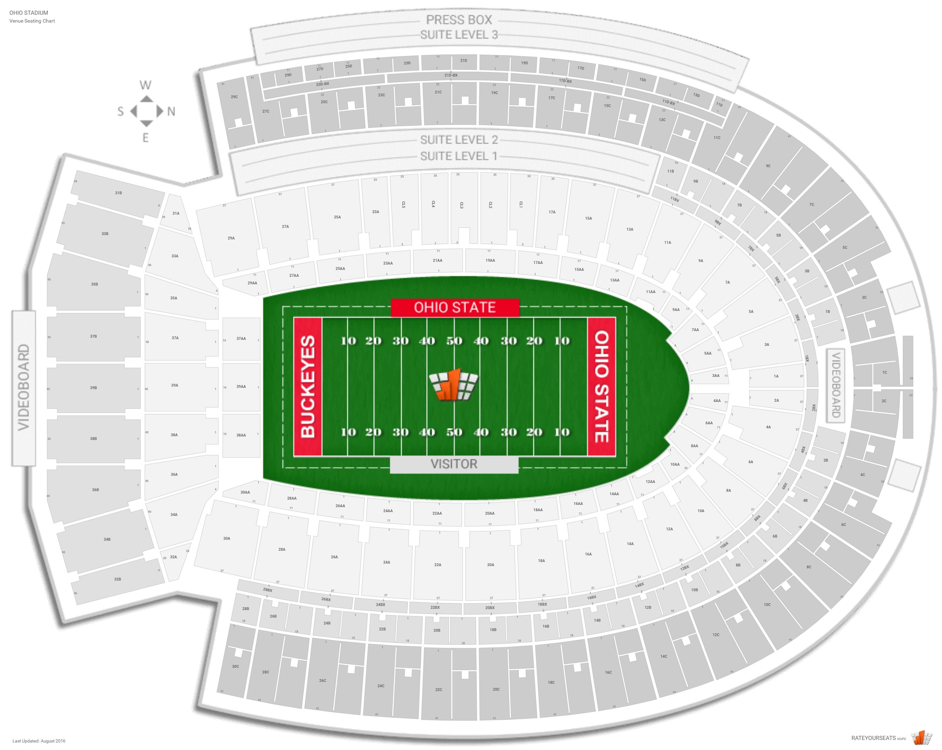 Ohio Stadium Ohio State Seating Guide Rateyourseatscom