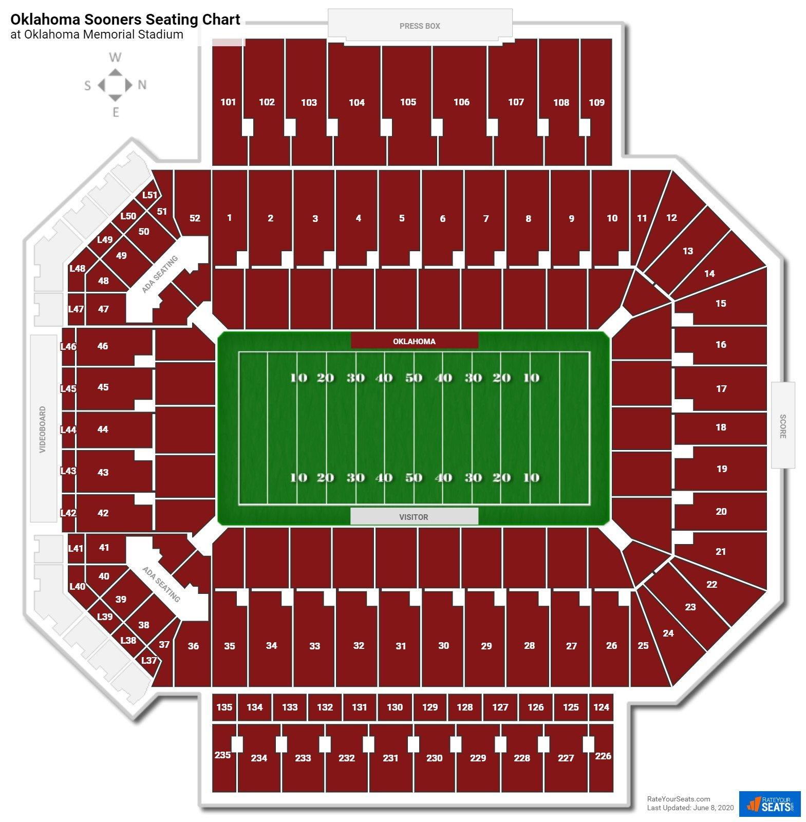 Oklahoma Memorial Stadium Loge Boxes - Football Seating ...