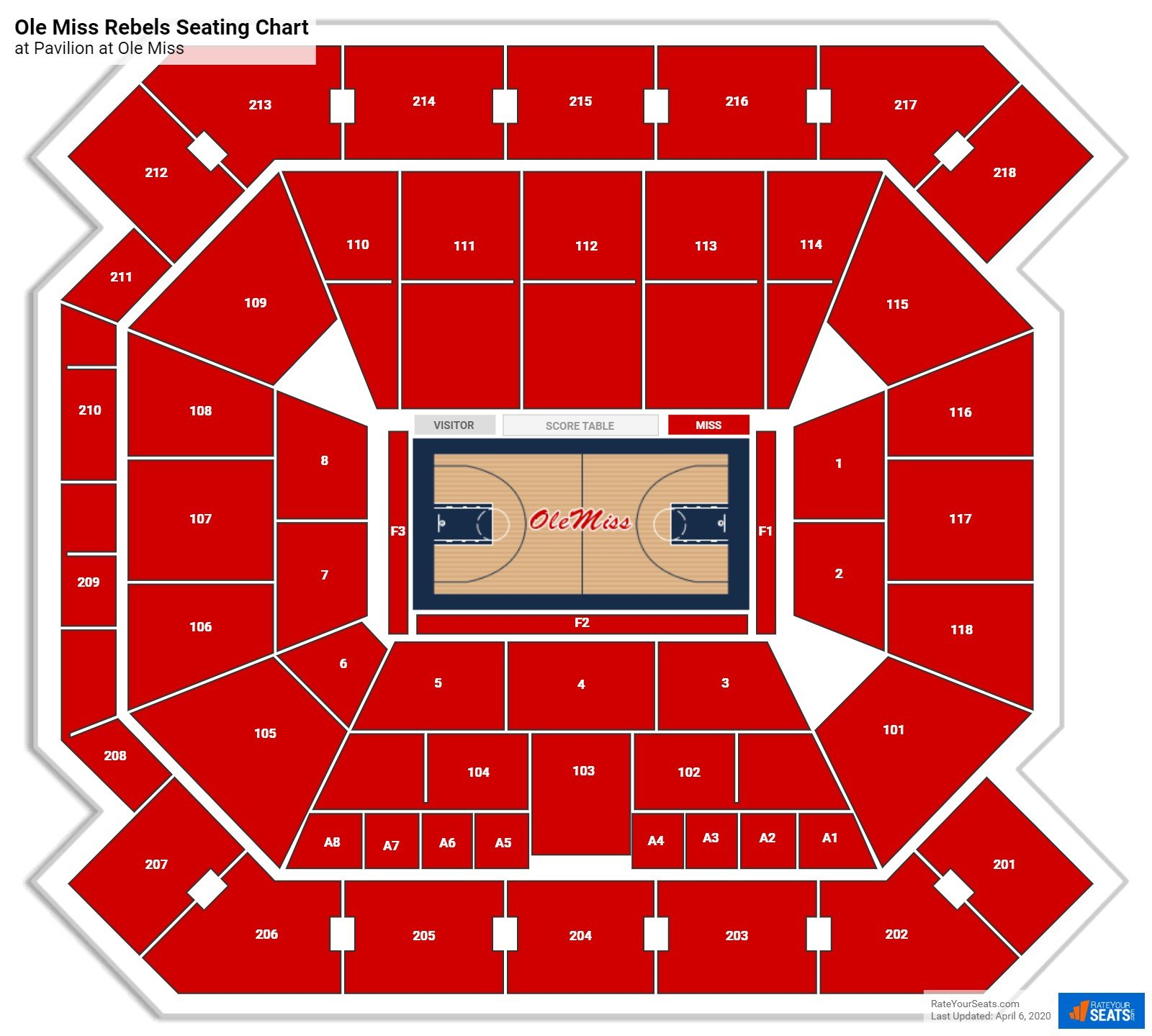Ole Miss Basketball Seating Chart