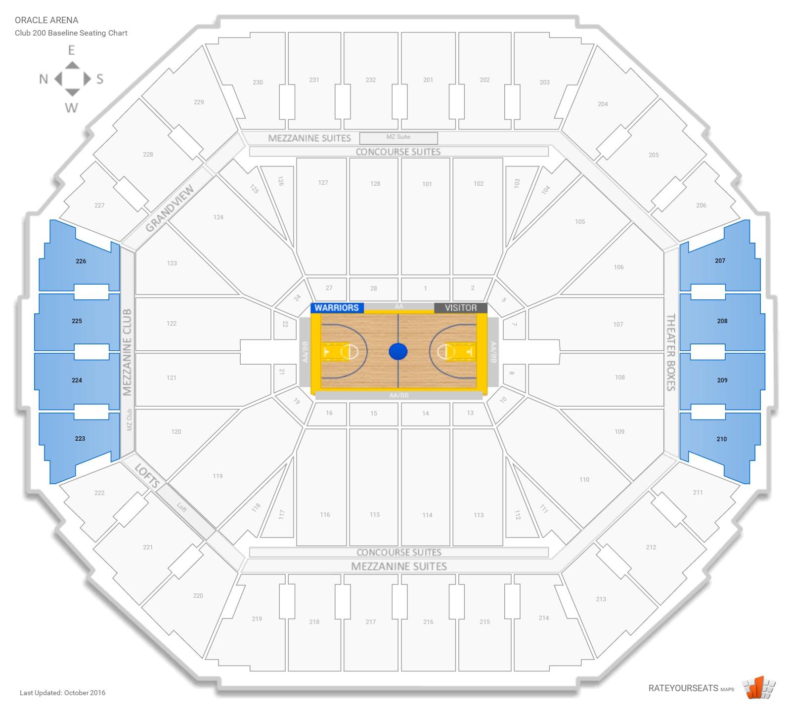 Warriors New Stadium Virtual Tour: Oracle Arena Basketball Seating