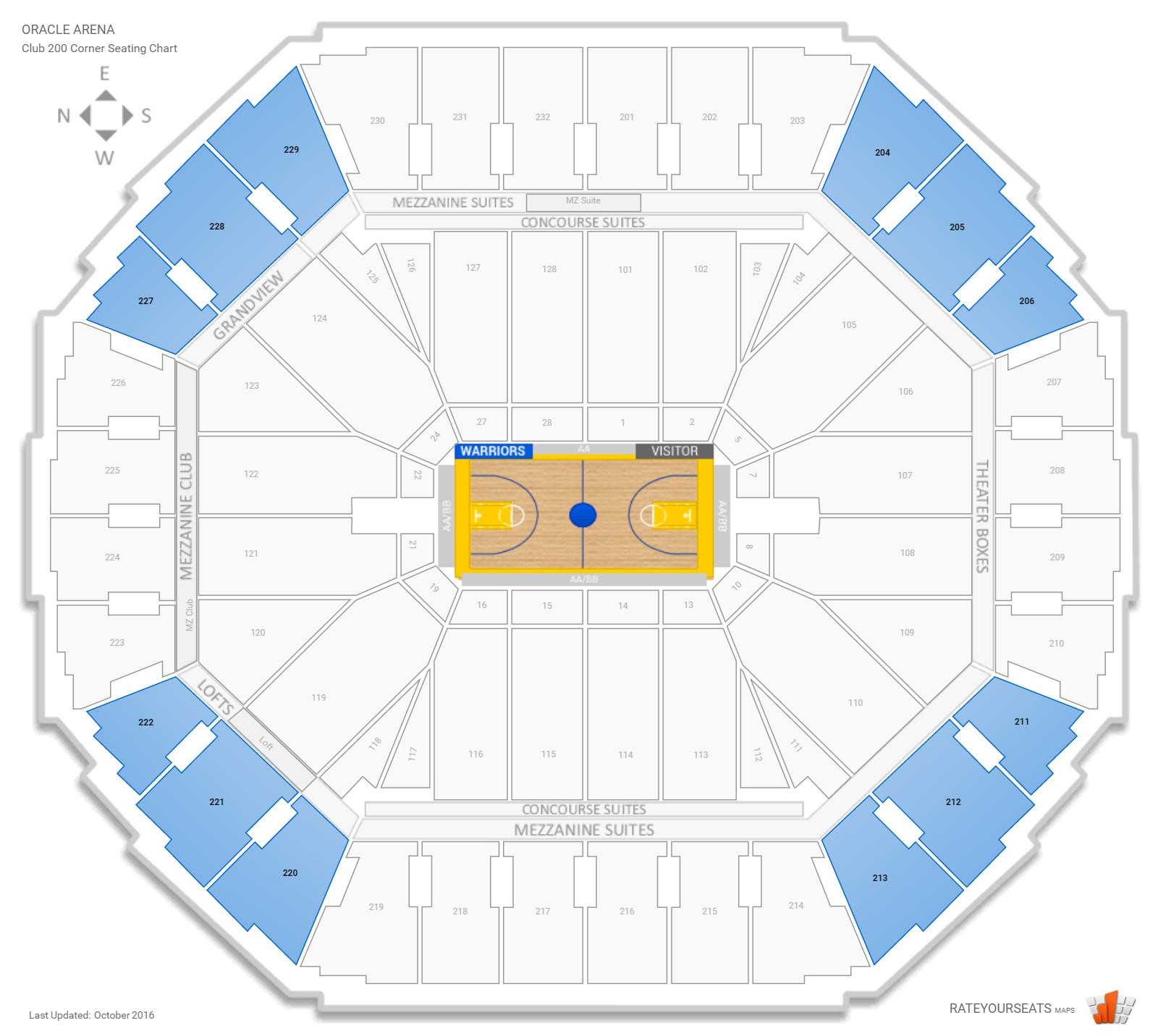 New Warriors Stadium Inside: Oracle Arena Basketball Seating