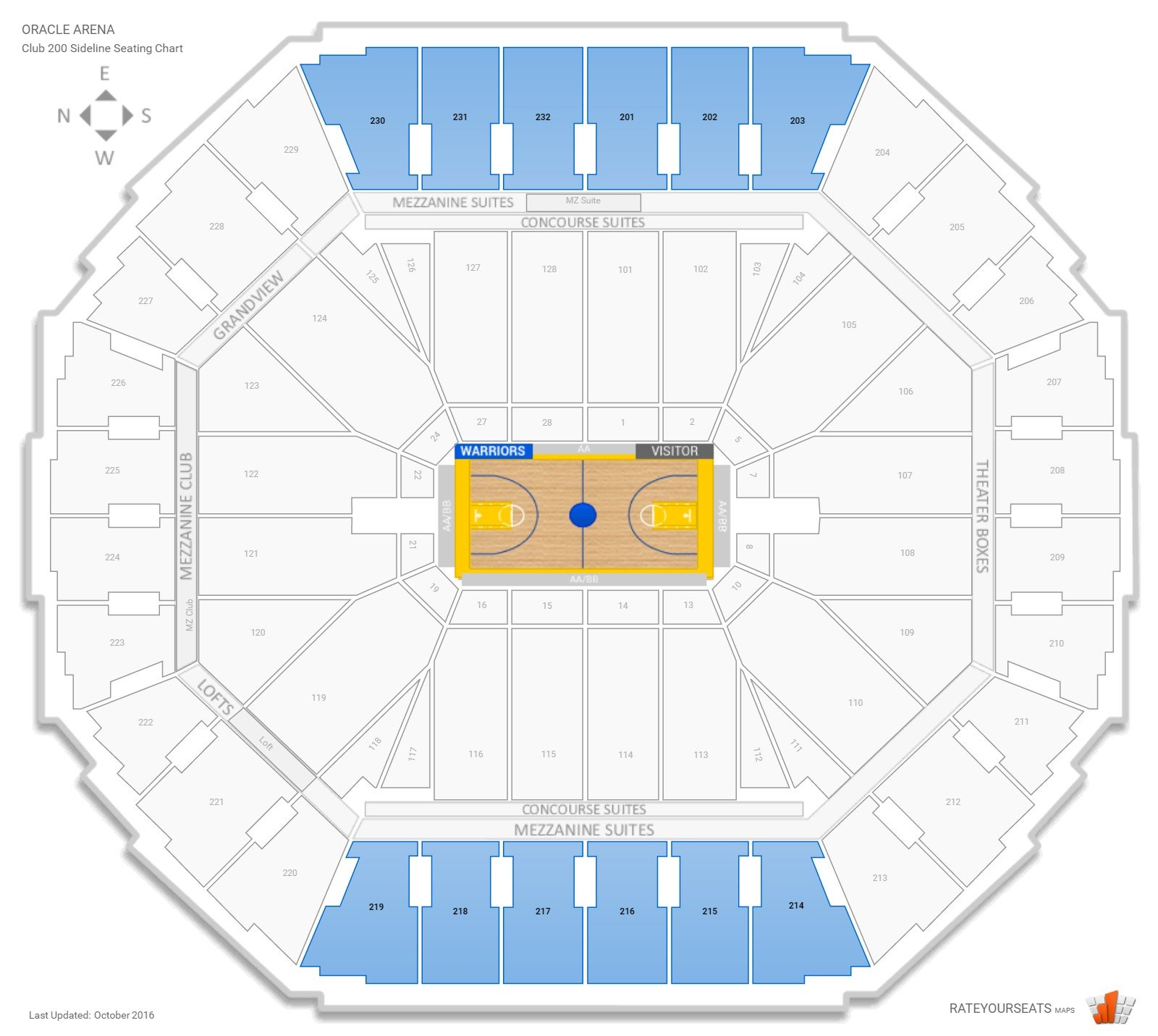 Warriors New Stadium Location: Oracle Arena Basketball Seating