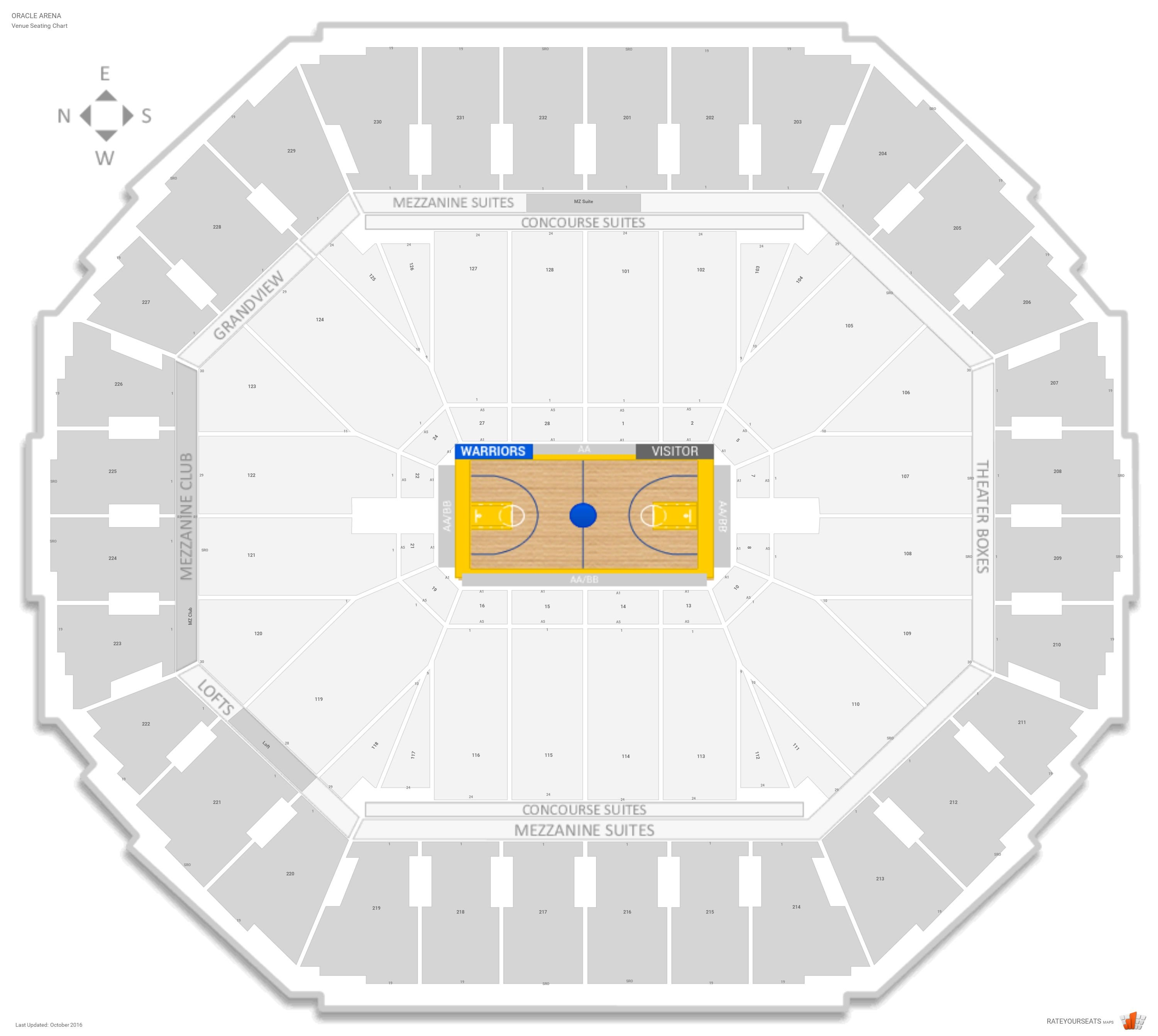 Golden state warriors seating guide oracle arena rateyourseats com