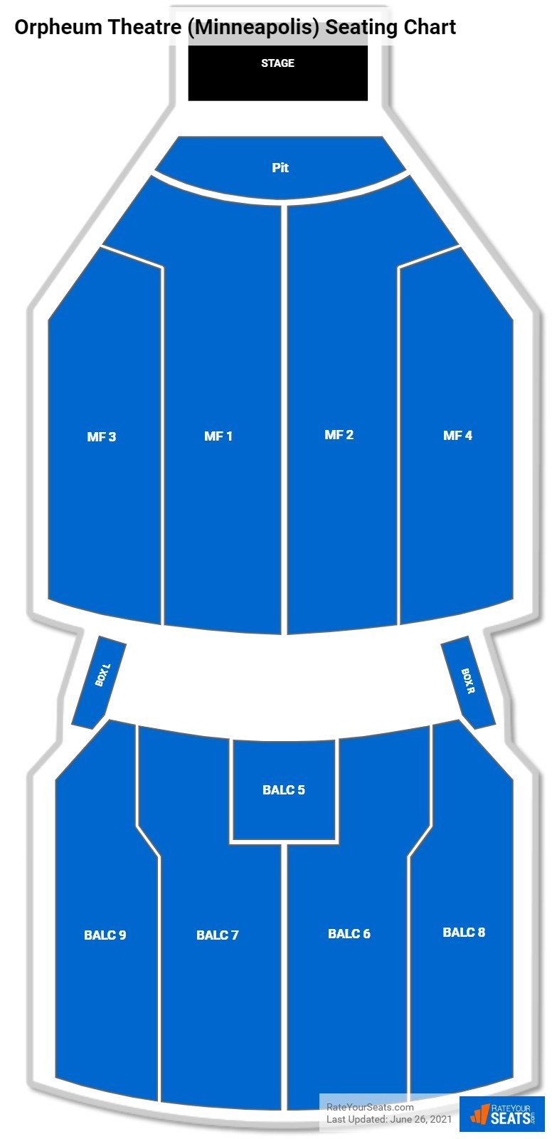 Orpheum Theatre (Minneapolis) Seating Chart