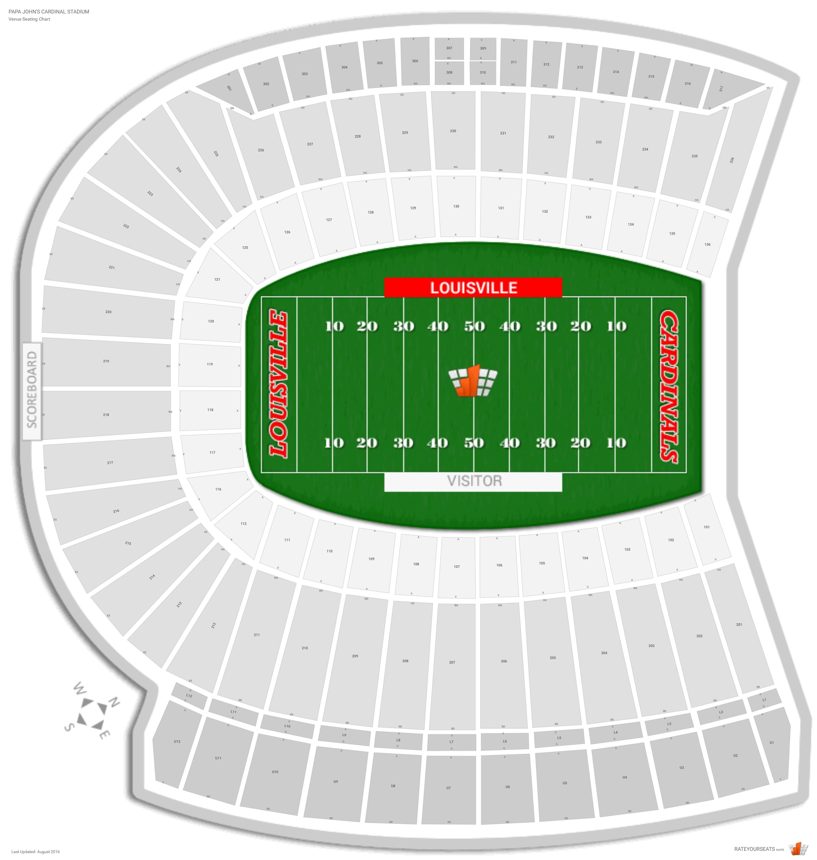 Cardinal Stadium Seating Chart With Row Numbers