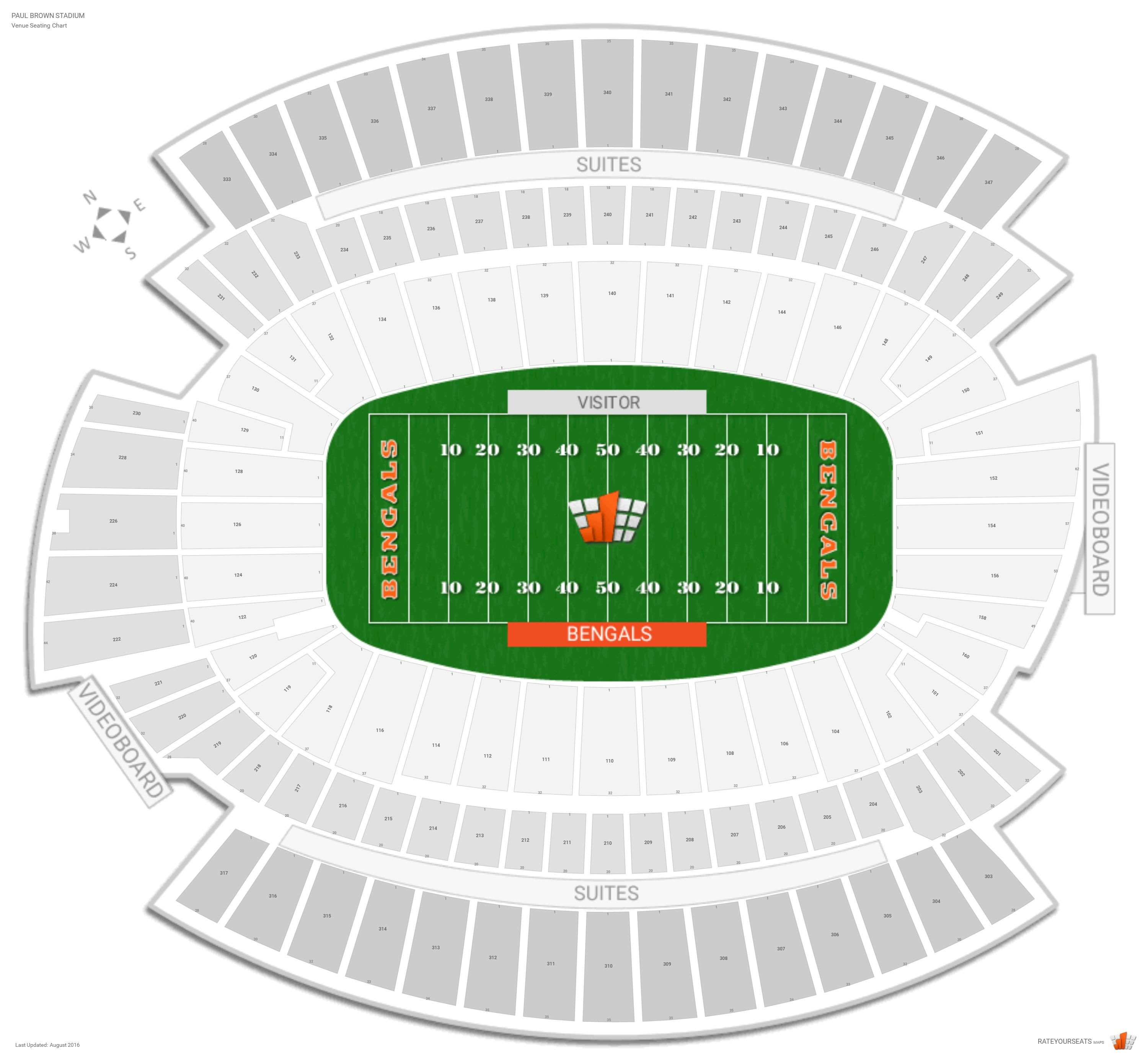 Paul Brown Stadium Seating Chart With Row Numbers