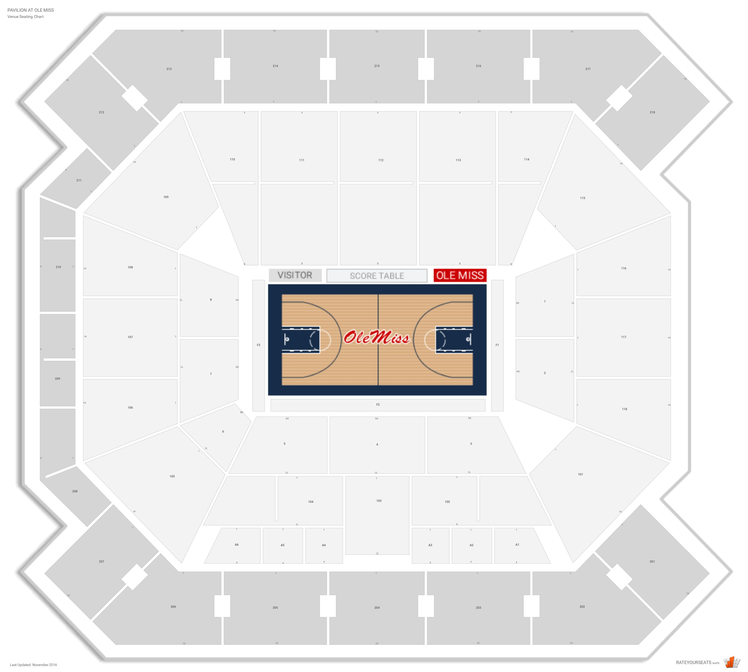 Pavilion at ole miss ole miss seating guide rateyourseats com
