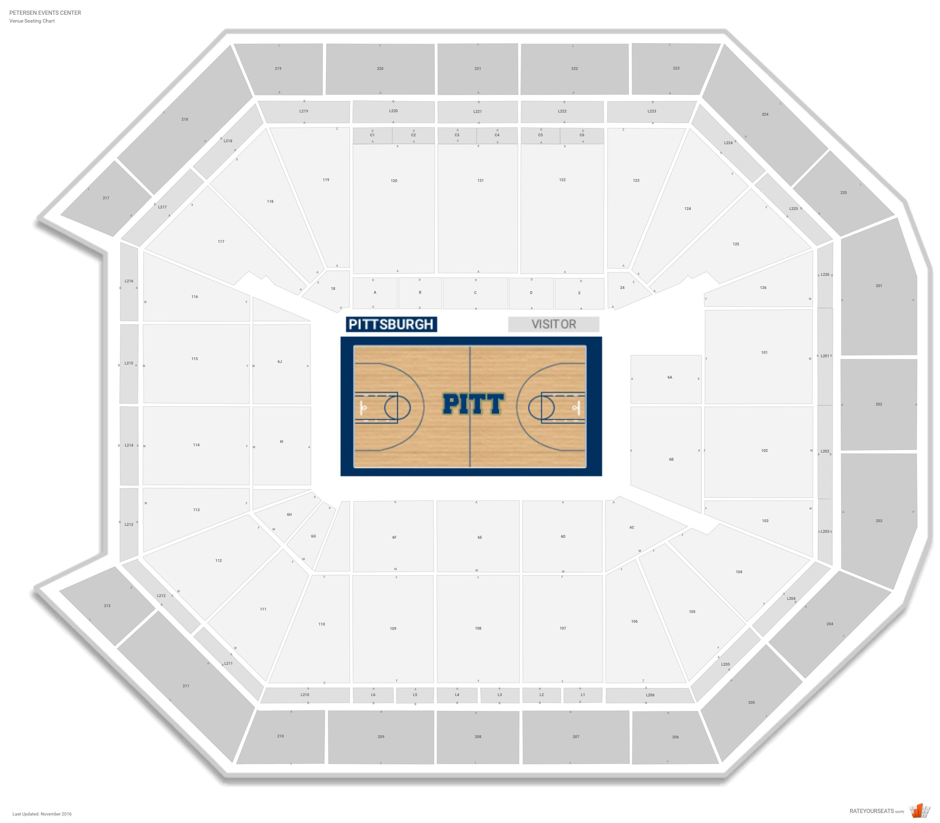 Petersen Events Center Seating Chart With Row Numbers