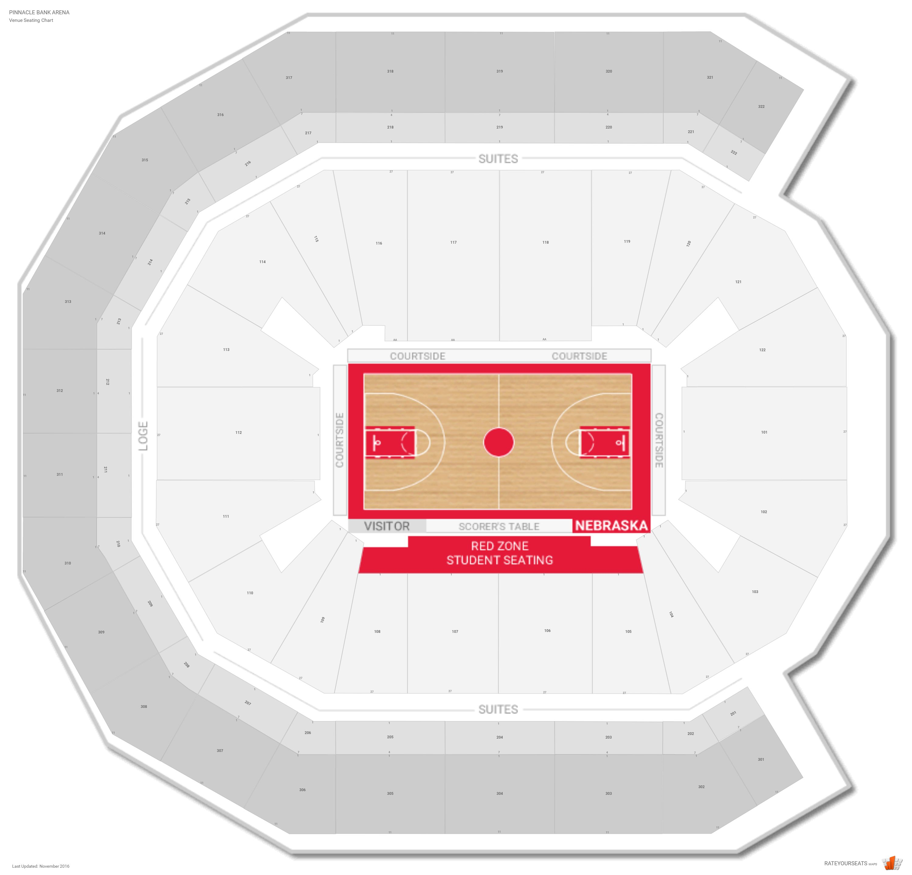 Pinnacle Bank Arena Seating Chart With Row Numbers