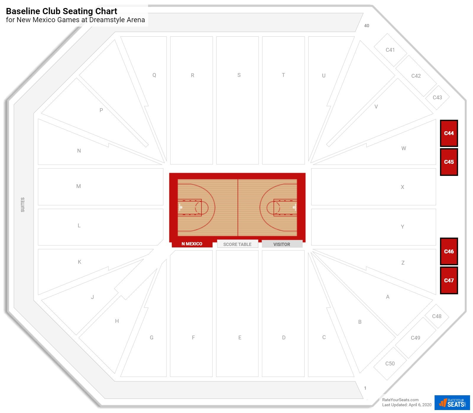 Pit Arena Baseline Club seating chart