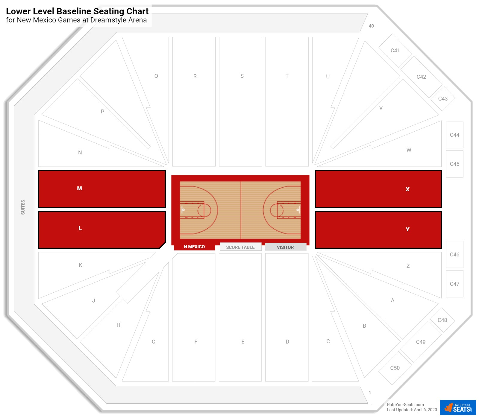 Dreamstyle Arena New Mexico Seating Guide Rateyourseatscom