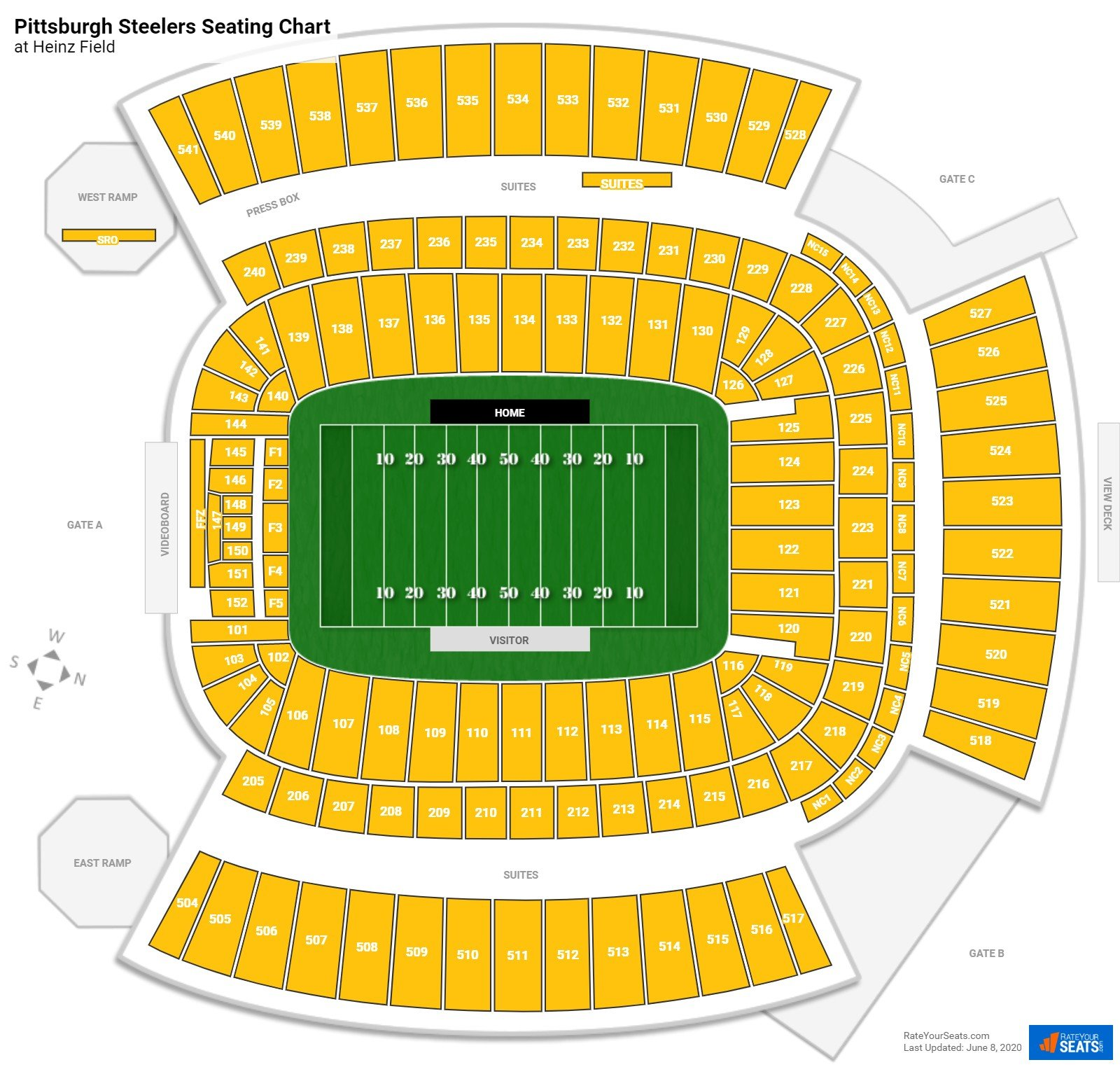 Pittsburgh Steelers Seating Chart