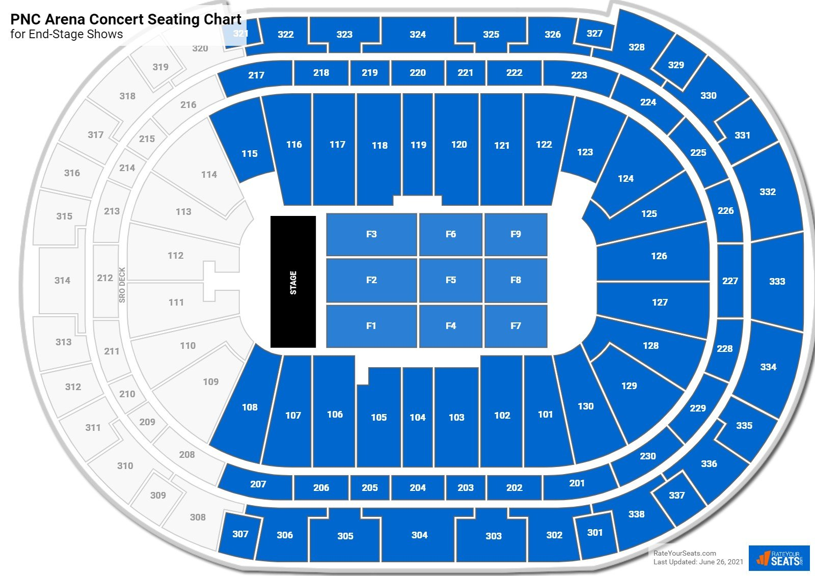 PNC Arena Seating Chart for Concerts