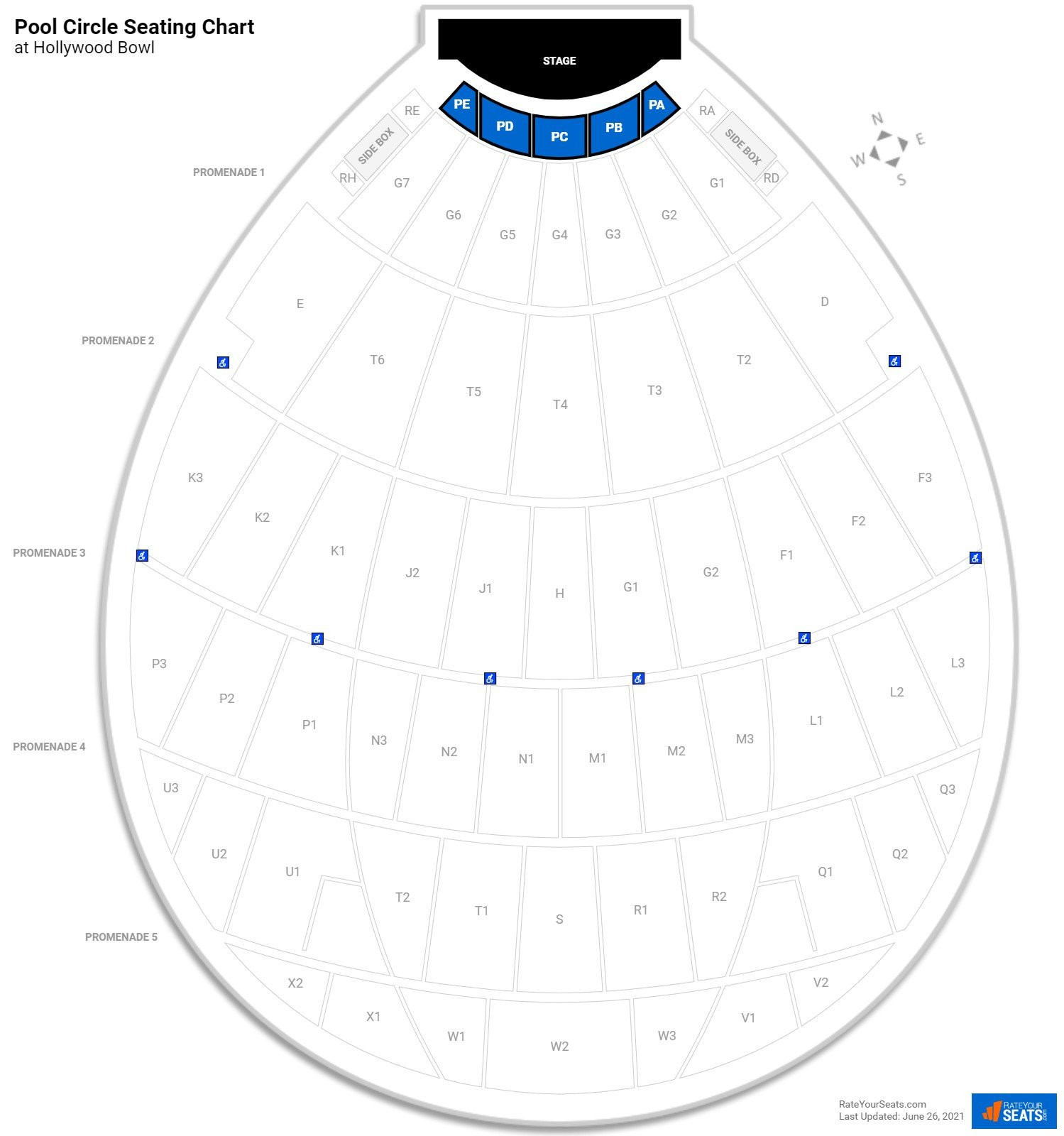 Hollywood Bowl Pool Circle Concert Seating Rateyourseats Com