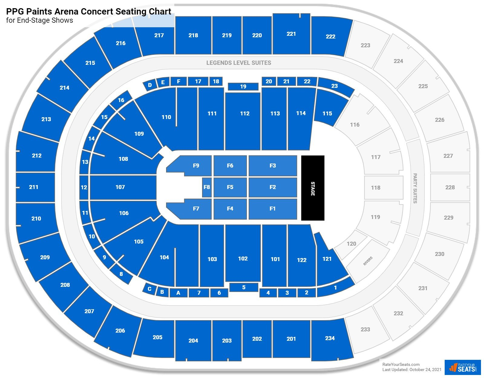 PPG Paints Arena Seating Chart for Concerts