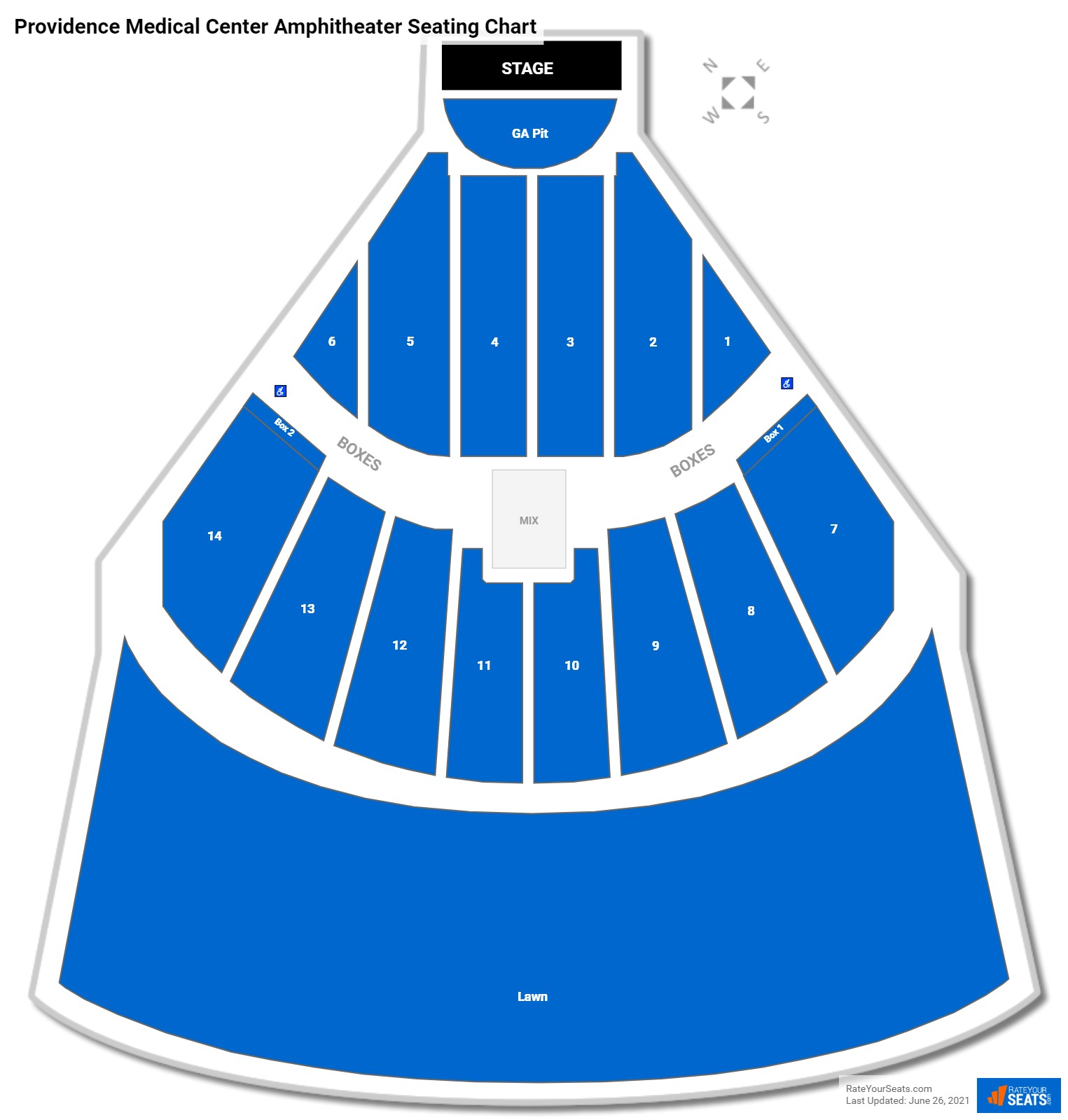 Providence Medical Center Amphitheater Seating Chart