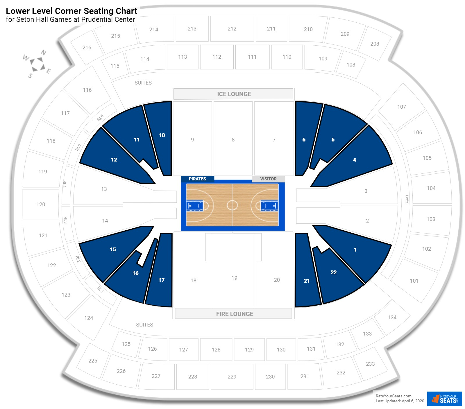 Theatre Seating Nhl Nj Devils Hockey Prudential Center Lower Level Corner Chart With Row Numbers Staples