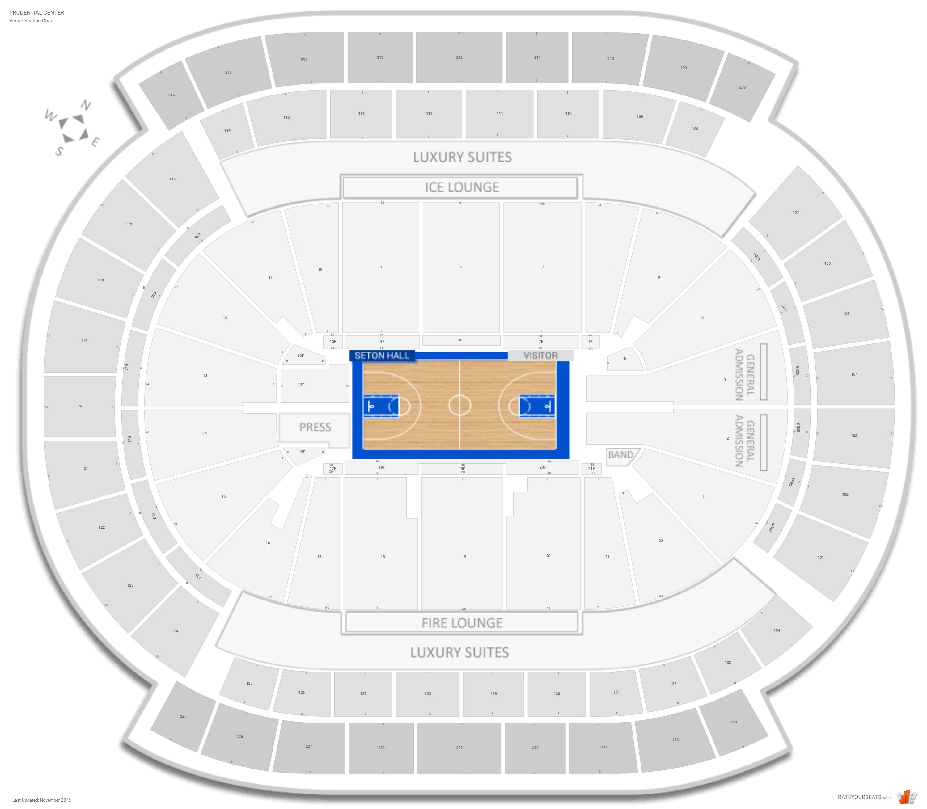 Prudential Center Seating Chart With Row Numbers