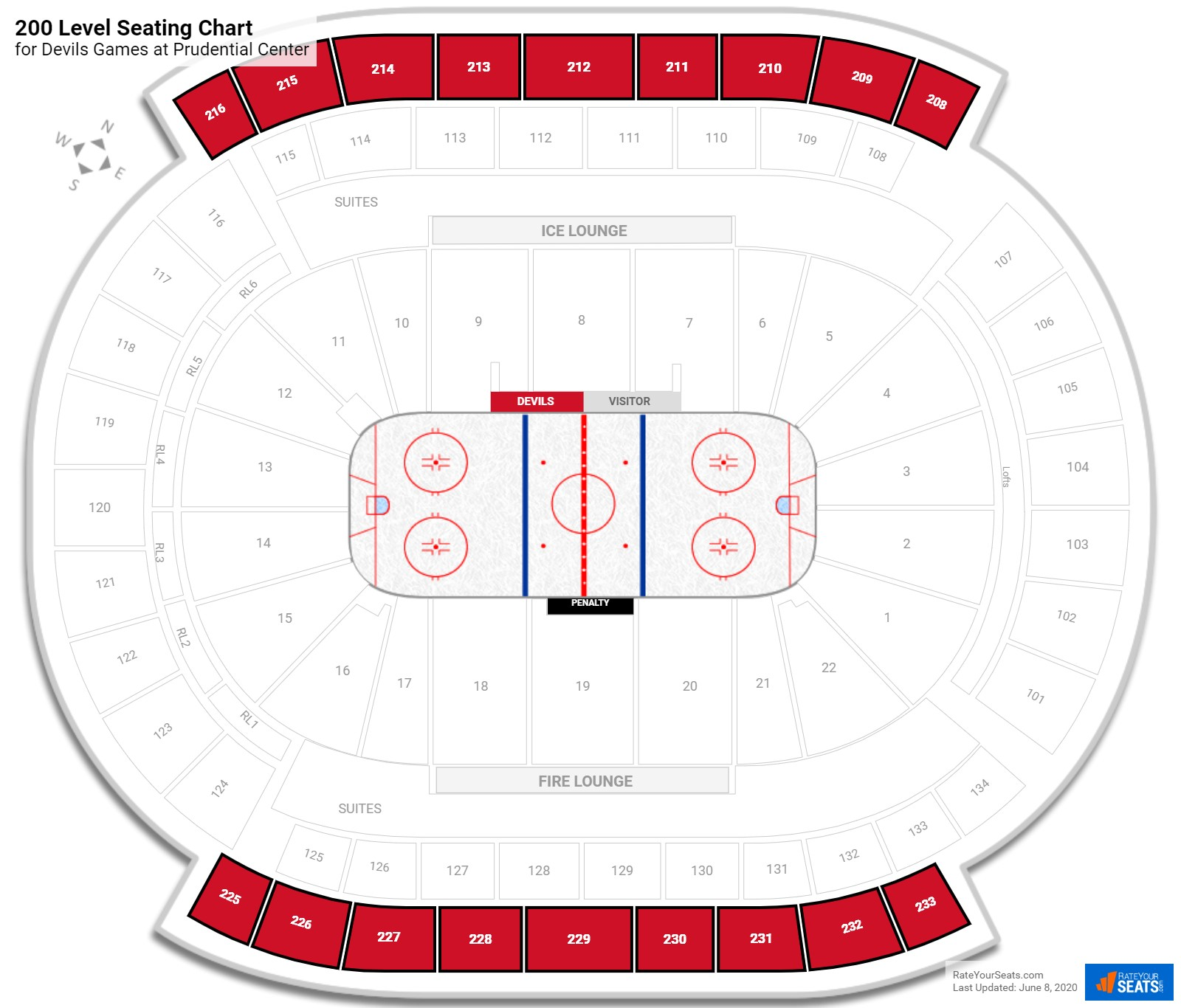 Prudential Center 200 Level Side seating chart