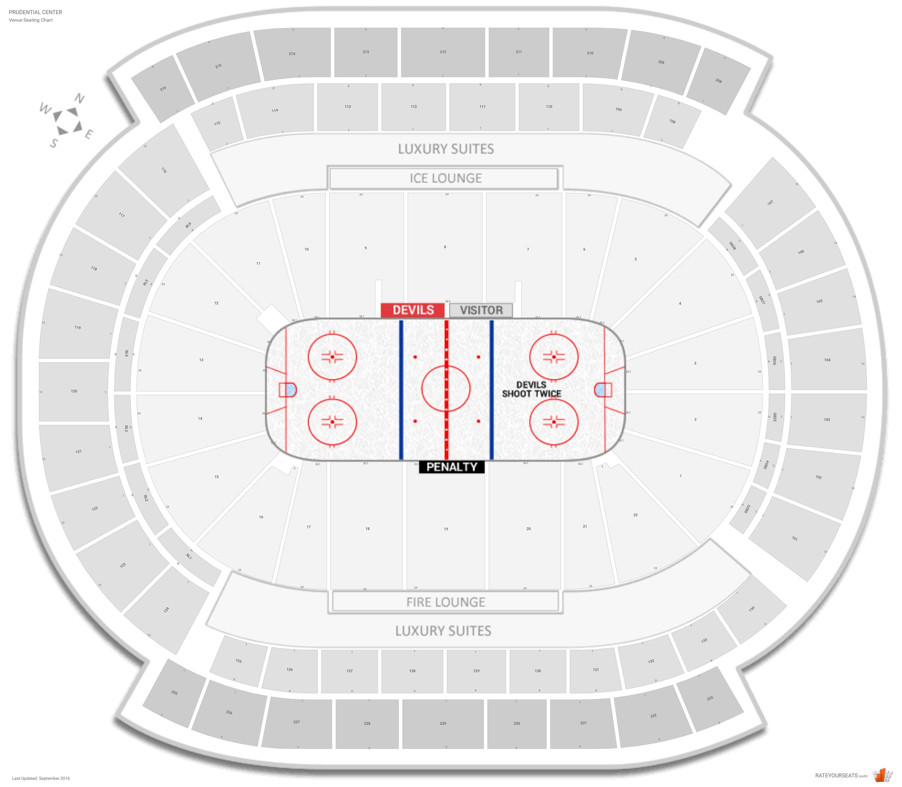 New jersey devils seating guide prudential center rateyourseats com