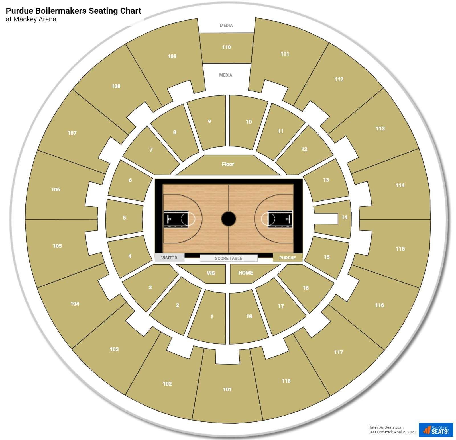 Purdue Basketball Seating Chart