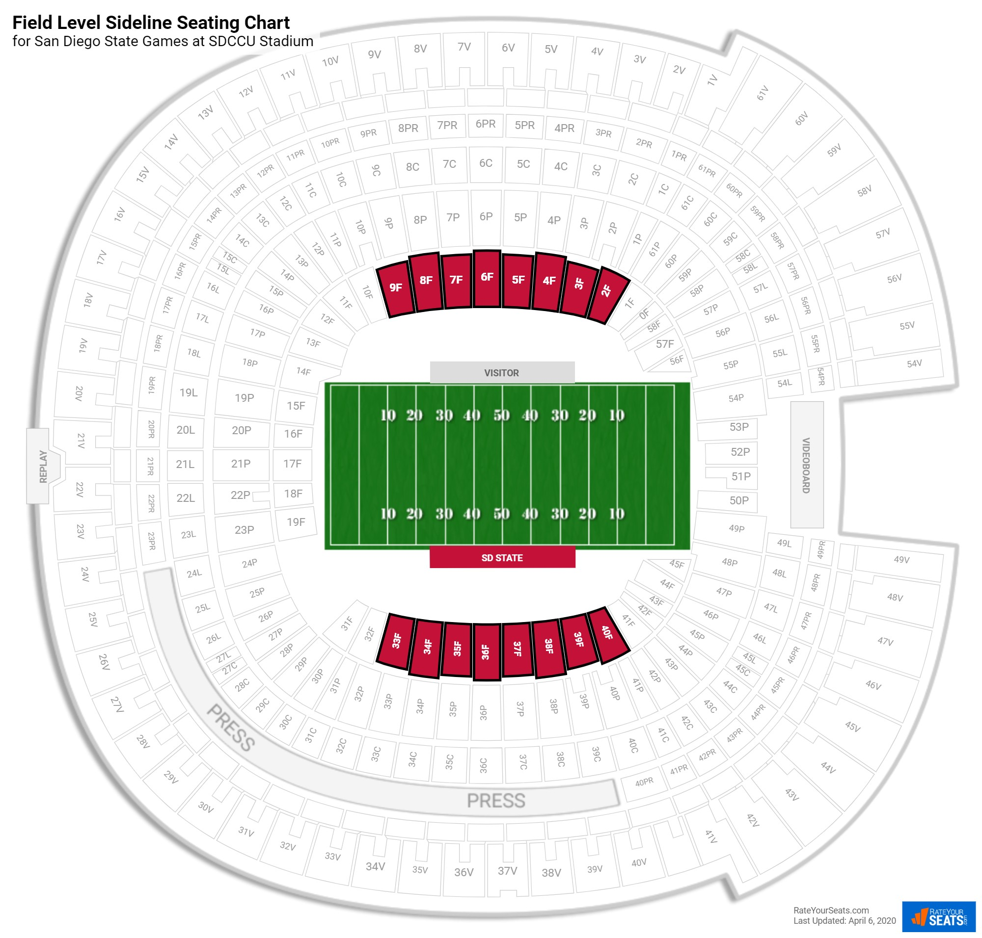 Qualcomm Stadium Seating Chart Concert Brokeasshome Com
