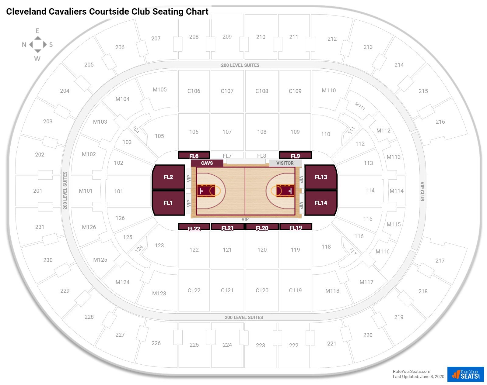 Cleveland Cavaliers Club Seating at Quicken Loans Arena RateYourSeats