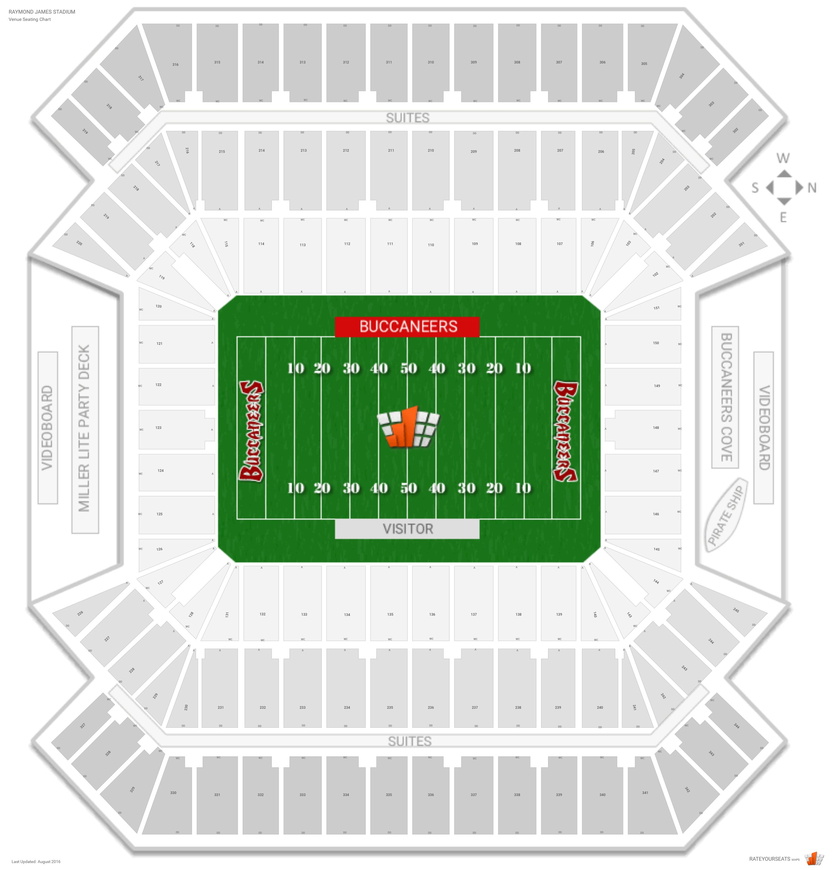 Tampa Bay Buccaneers Seating Guide - Raymond James Stadium