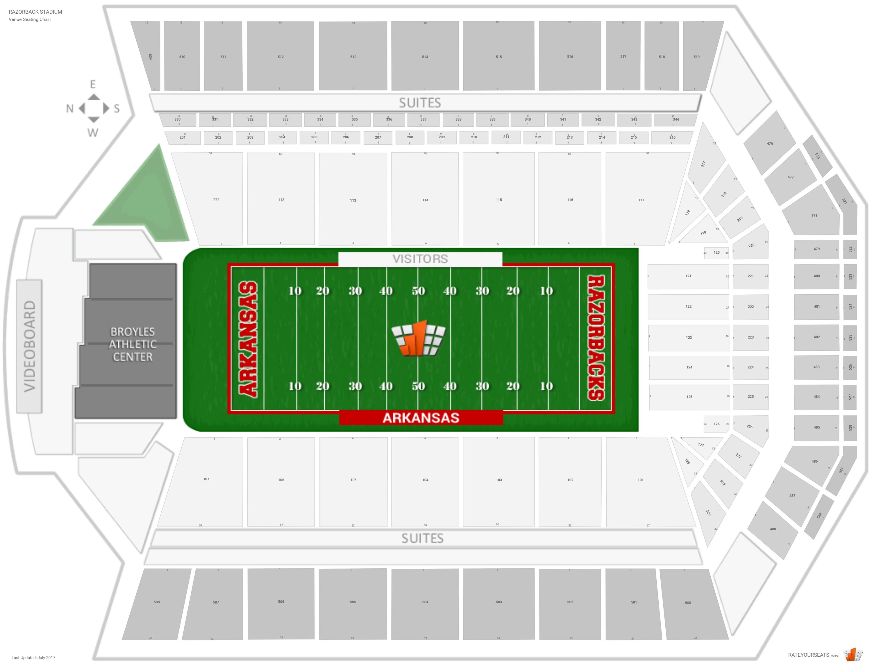 Razorback Stadium Seating Chart Rows Wwwgalleryhip