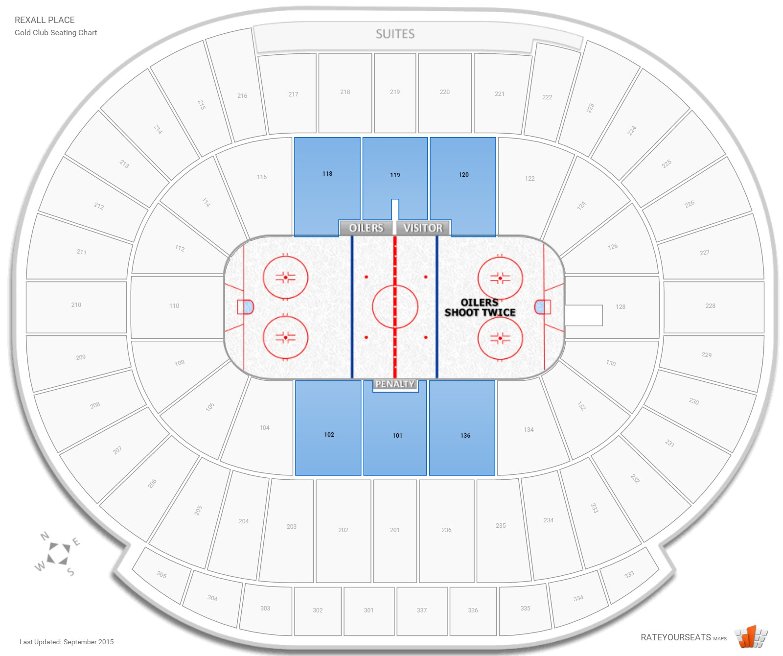Rexall Place  seating chart