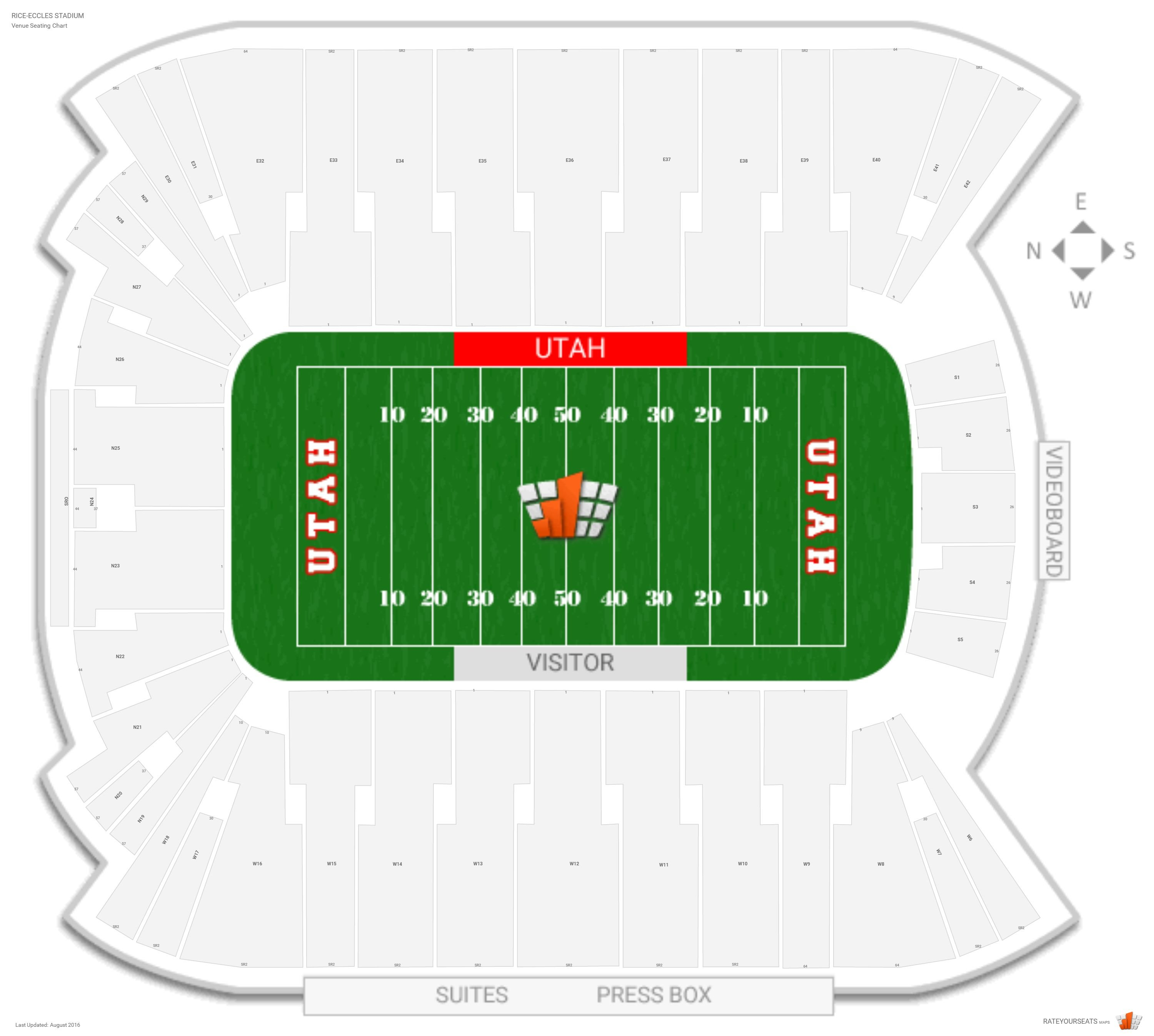 Rice eccles stadium utah seating guide rateyourseats com