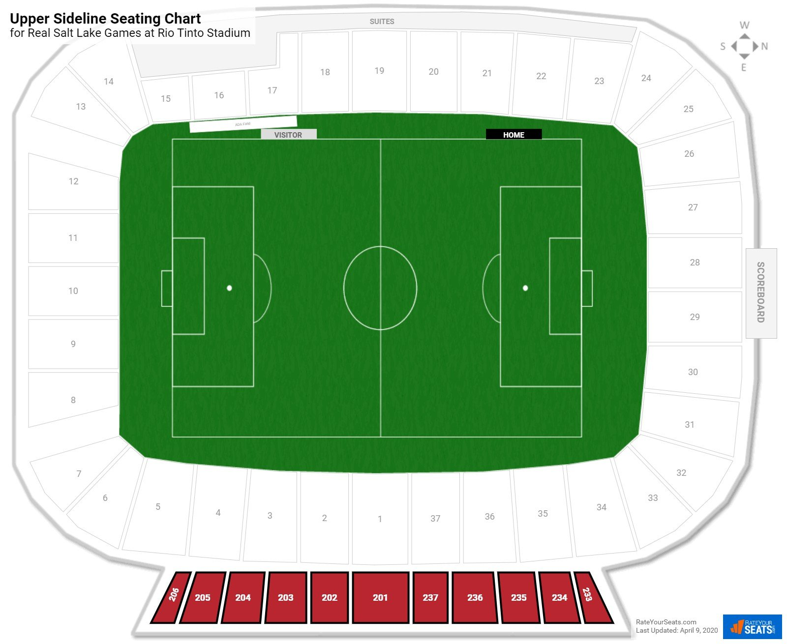 Rio tinto stadium seating guide rateyourseats com