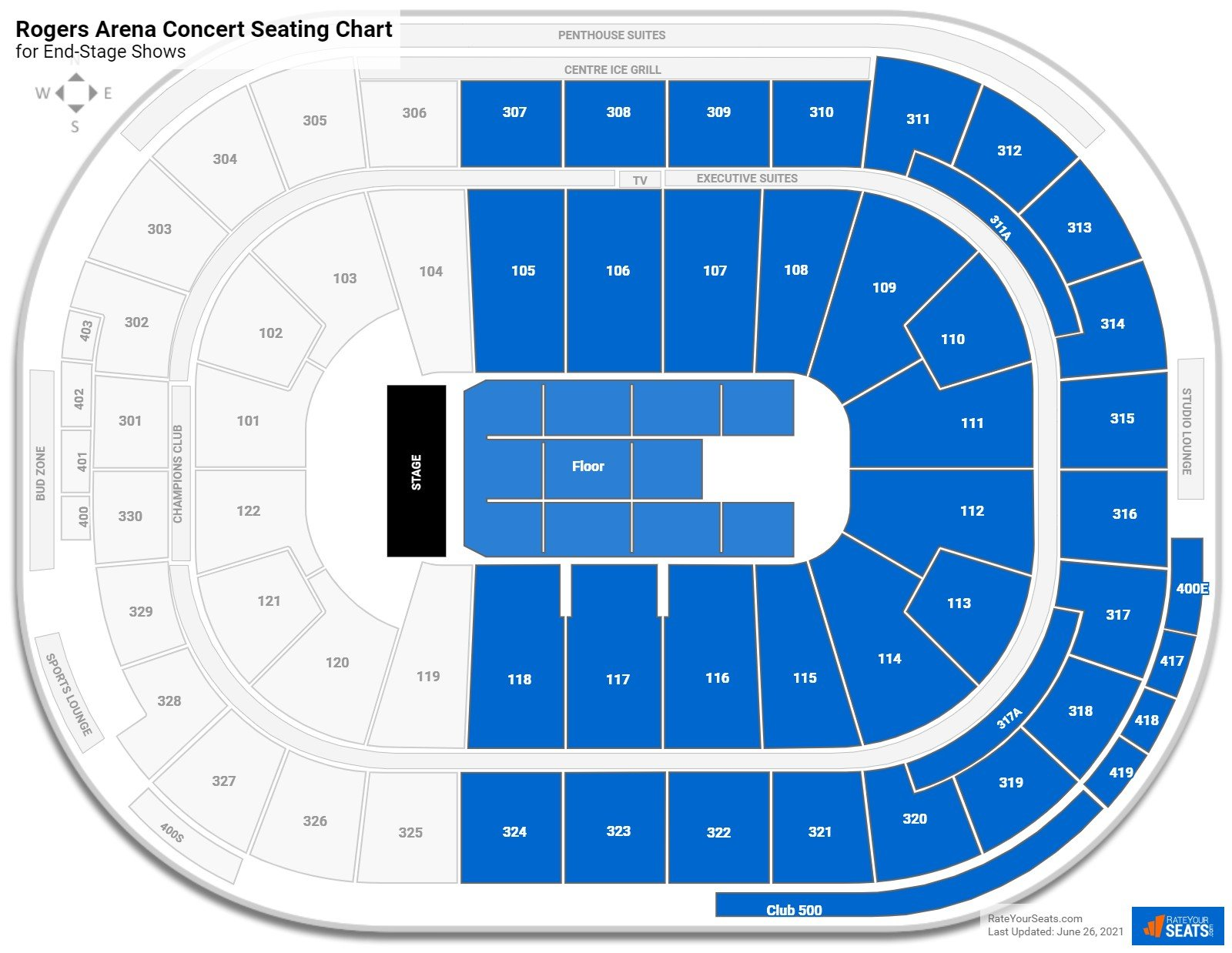 Rogers Arena Seating Chart for Concerts