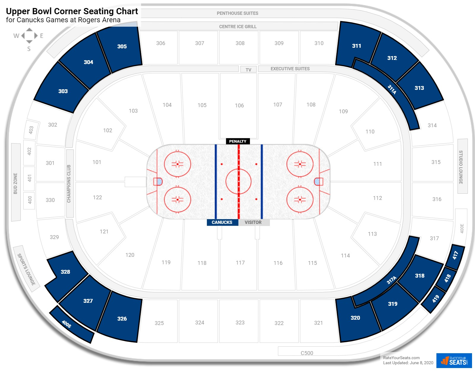 Rogers Arena Rogers Level Corner seating chart