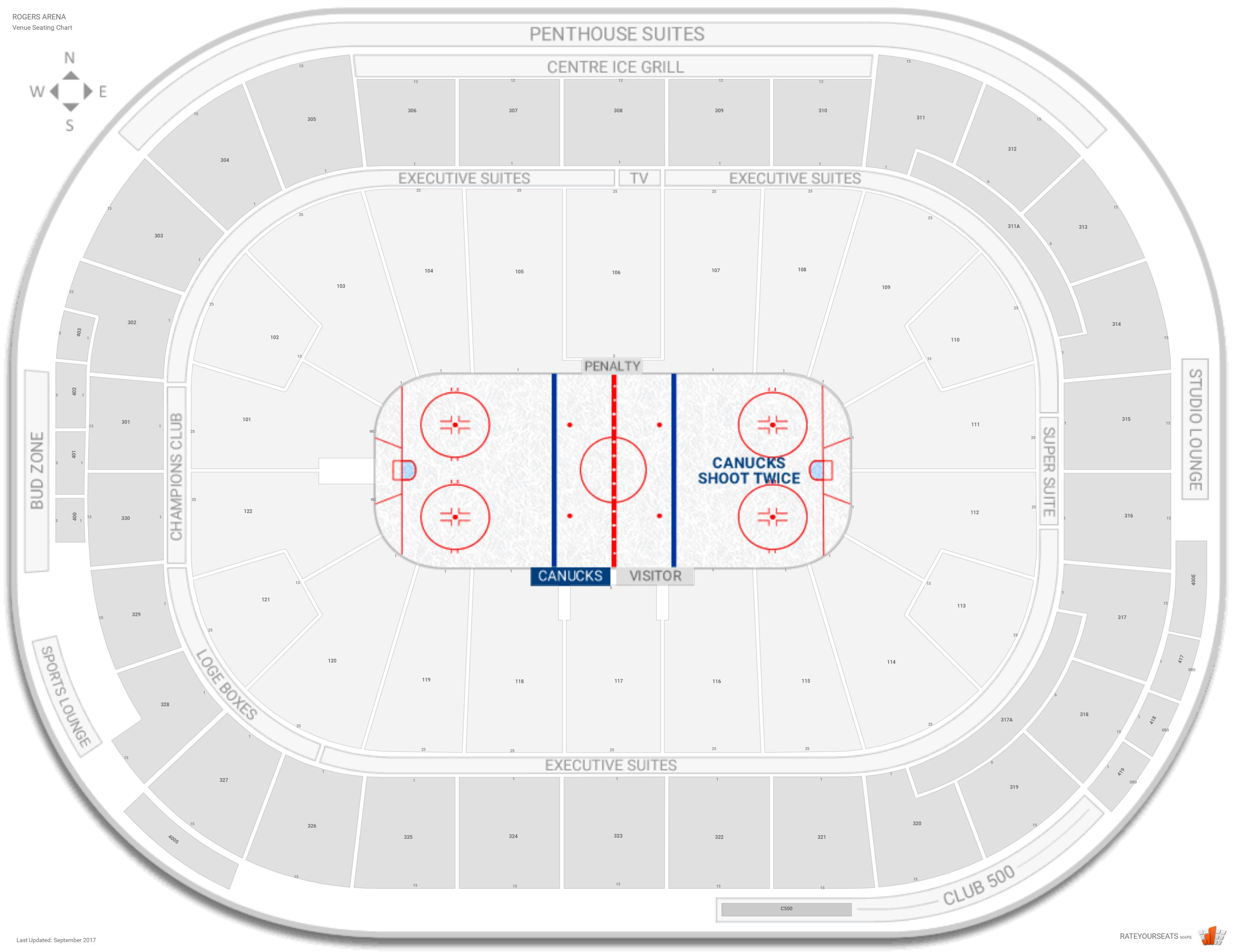 Vancouver Canucks Seating Guide Rogers Arena Rateyourseatscom