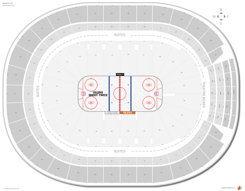 edmonton oilers seat chart: Edmonton oilers seating guide rogers place rateyourseats com
