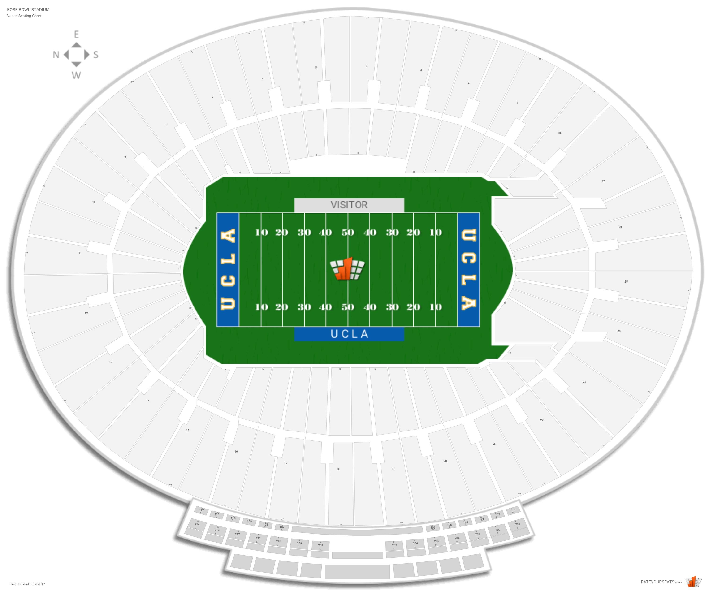 Rose Bowl Stadium Ucla Seating Guide Rateyourseats Com