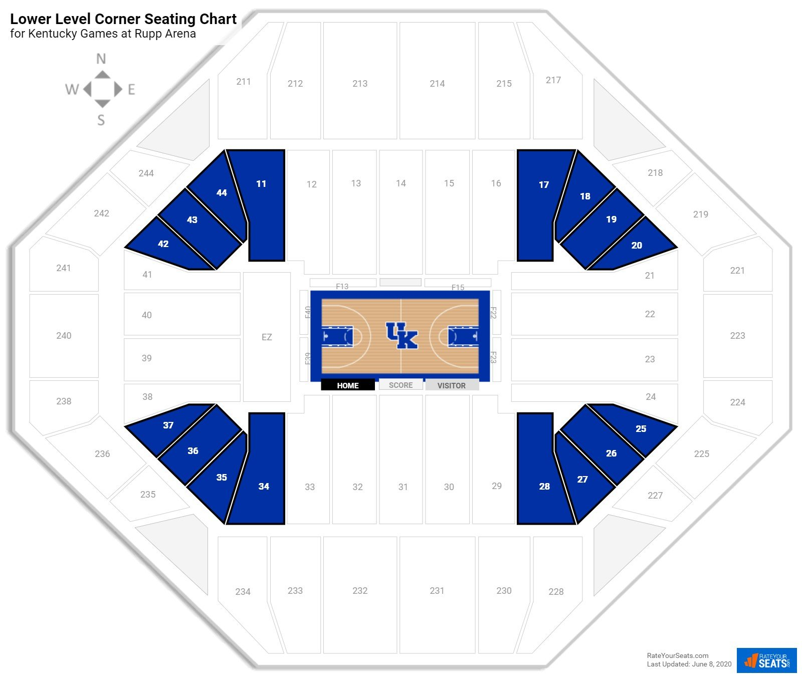 Rupp Arena Lower Level Corner Seating Chart