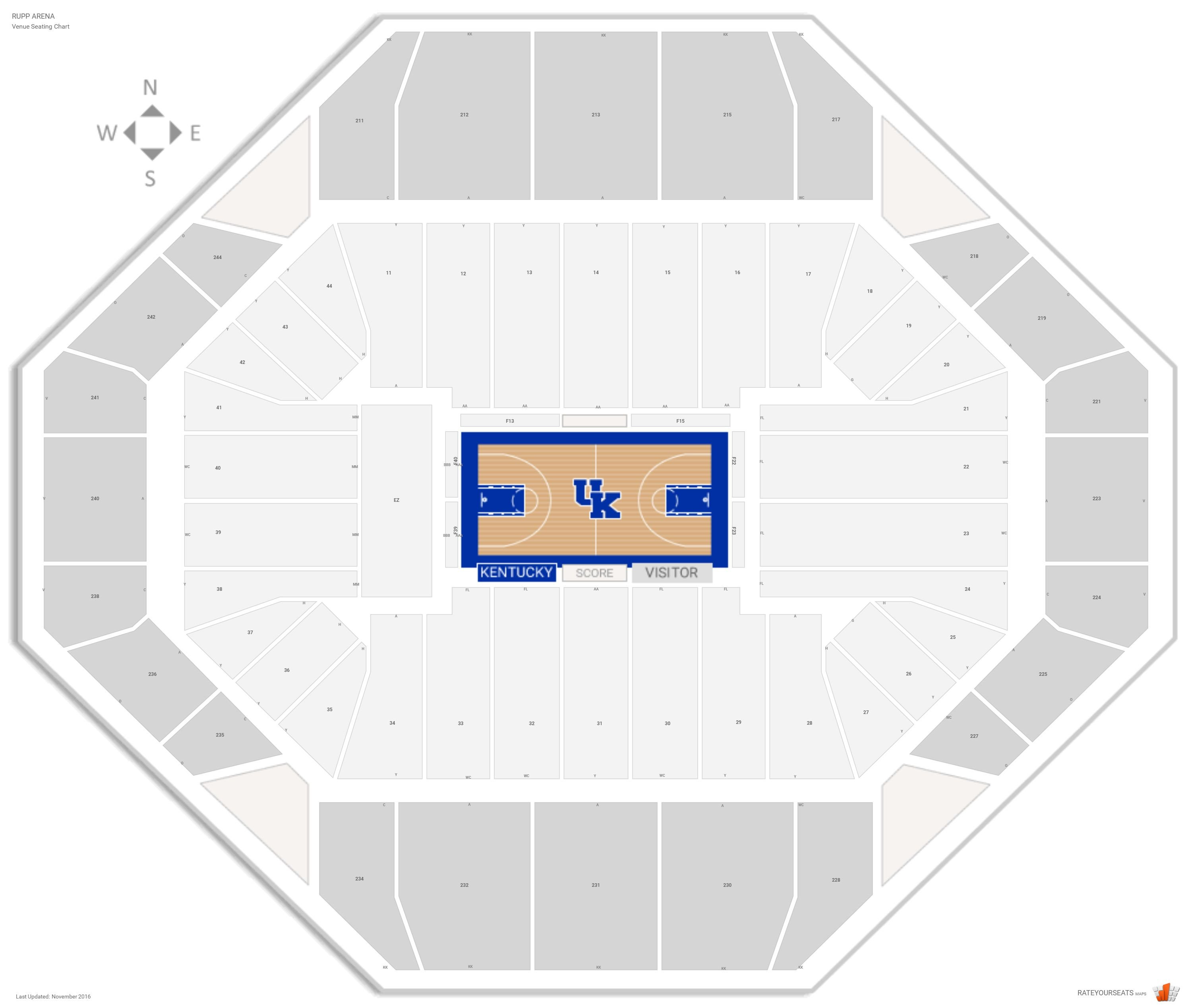 Rupp Arena Seating Chart With Row Numbers