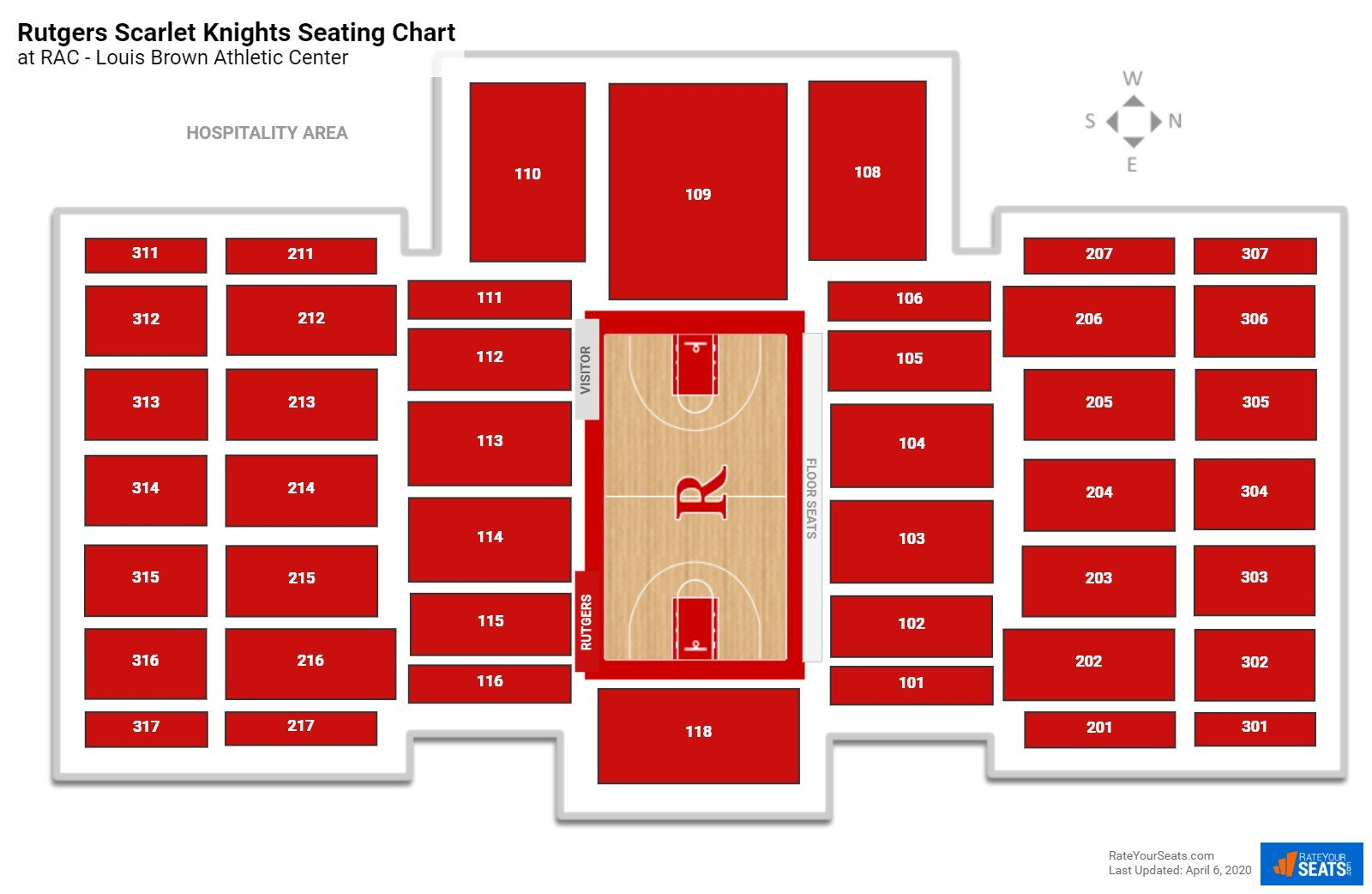 Rutgers Basketball Seating Chart