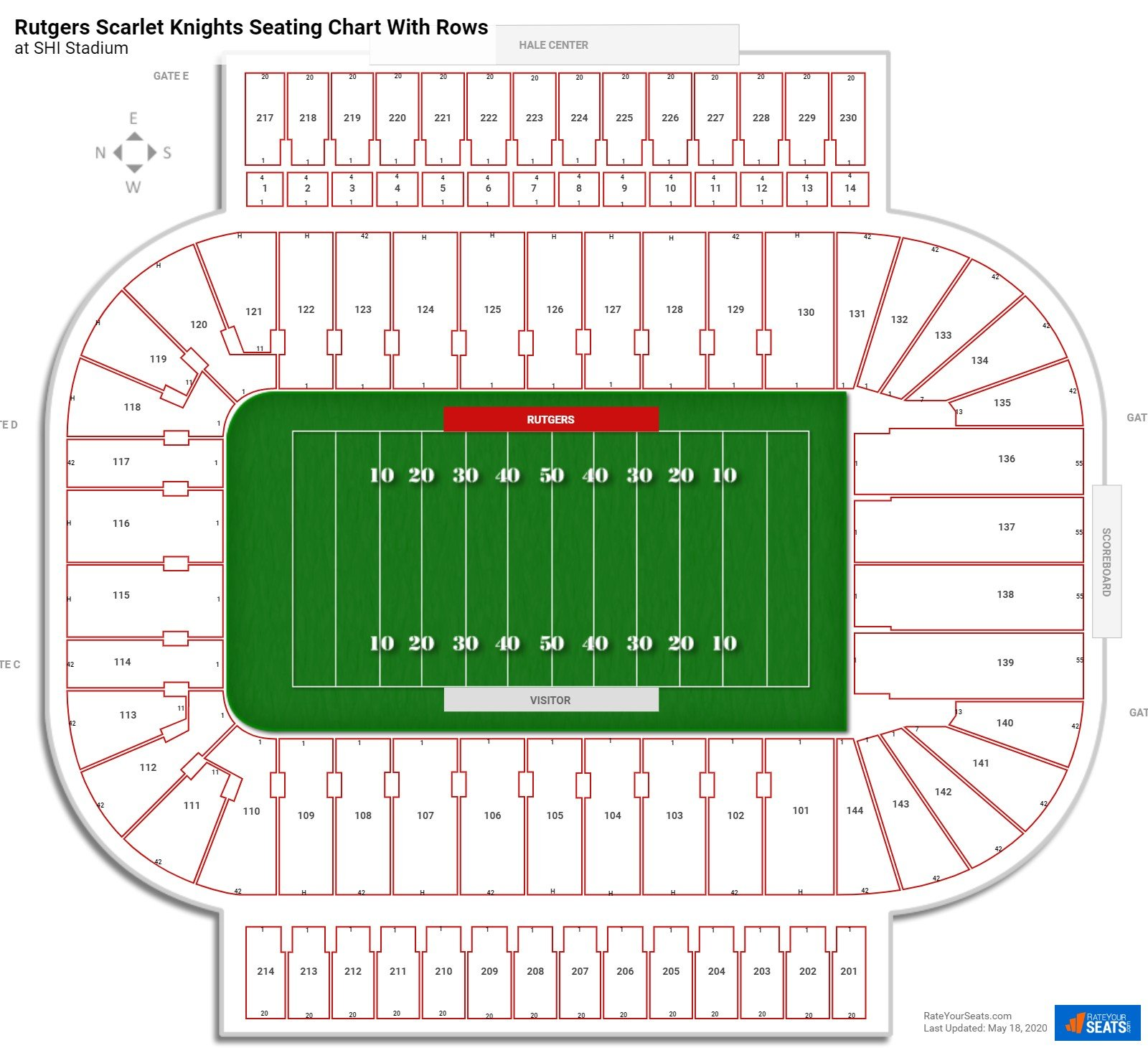 SHI Stadium Seating for Rutgers Football - RateYourSeats.com