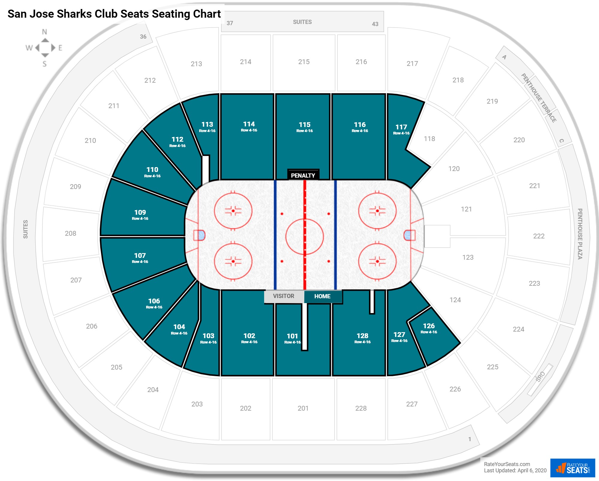 SAP Center  seating chart