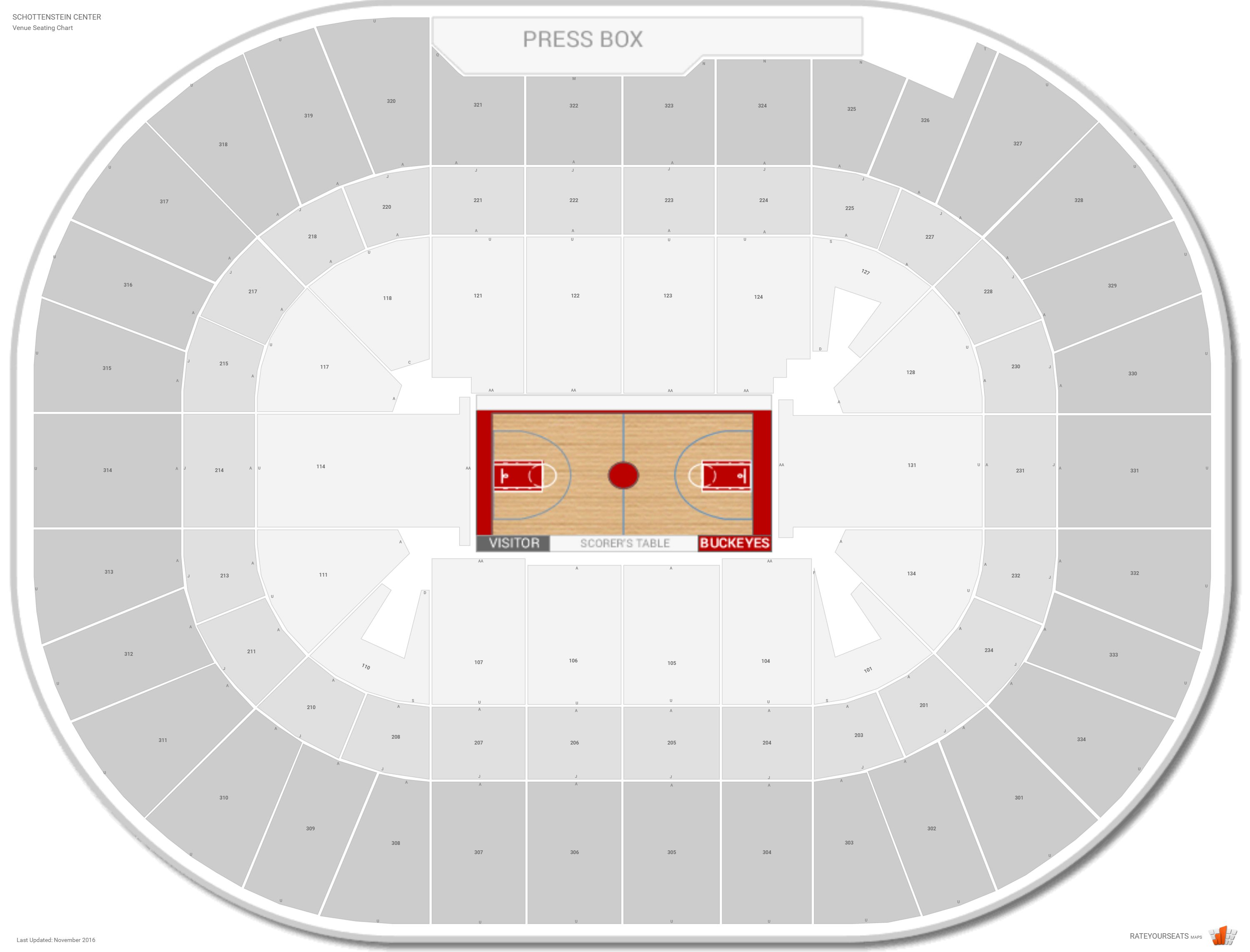 Schottenstein center ohio state seating guide rateyourseats com