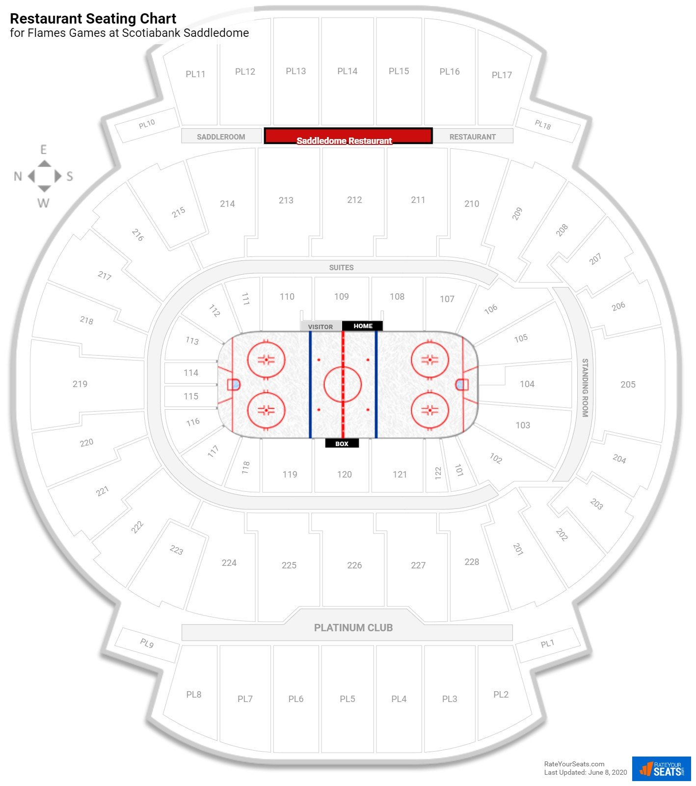 Scotiabank Saddledome Restaurant seating chart