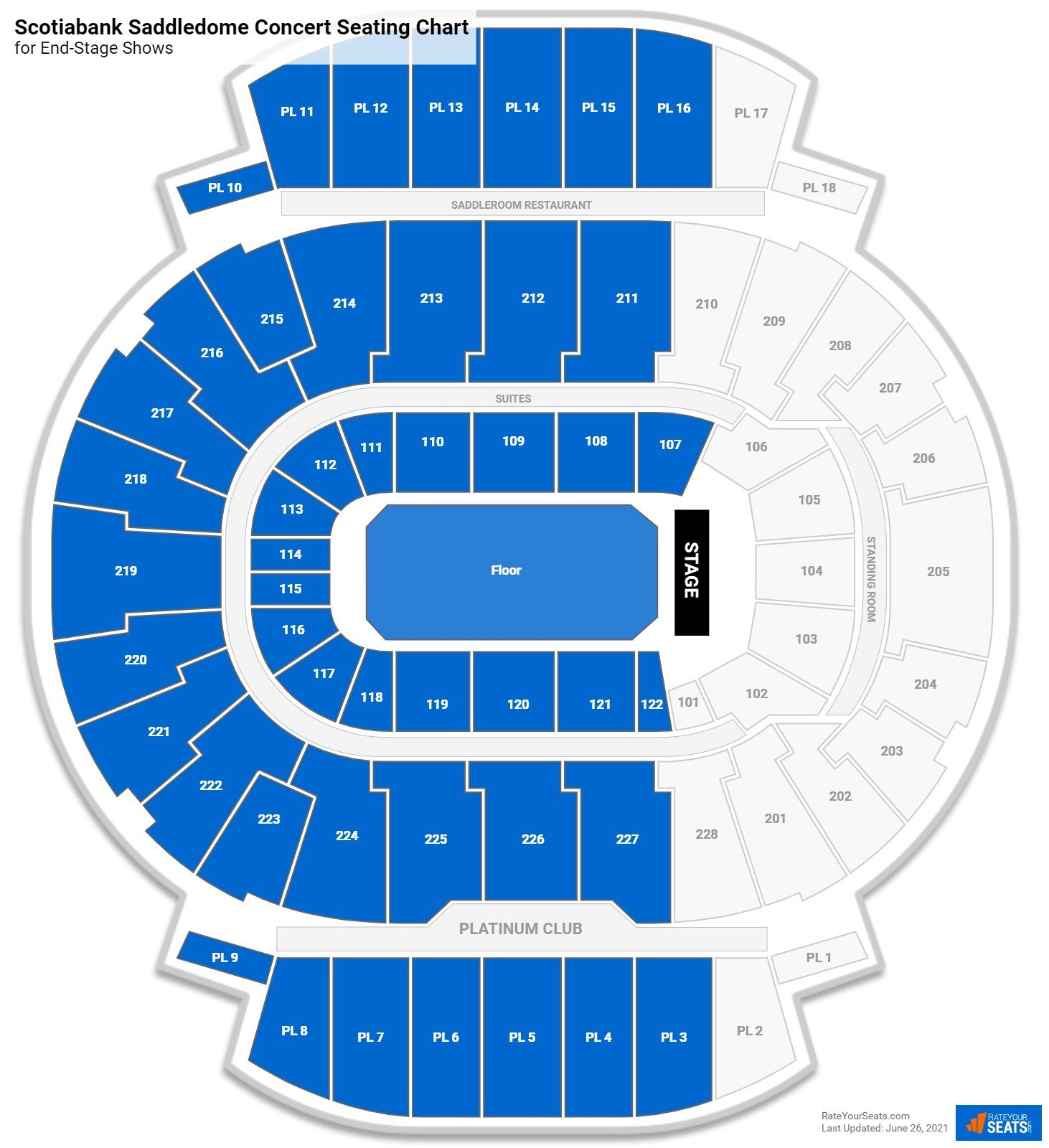 Scotiabank Saddledome Seating Chart for Concerts