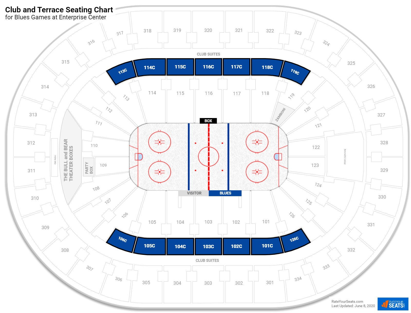 Scottrade Center Club Level seating chart