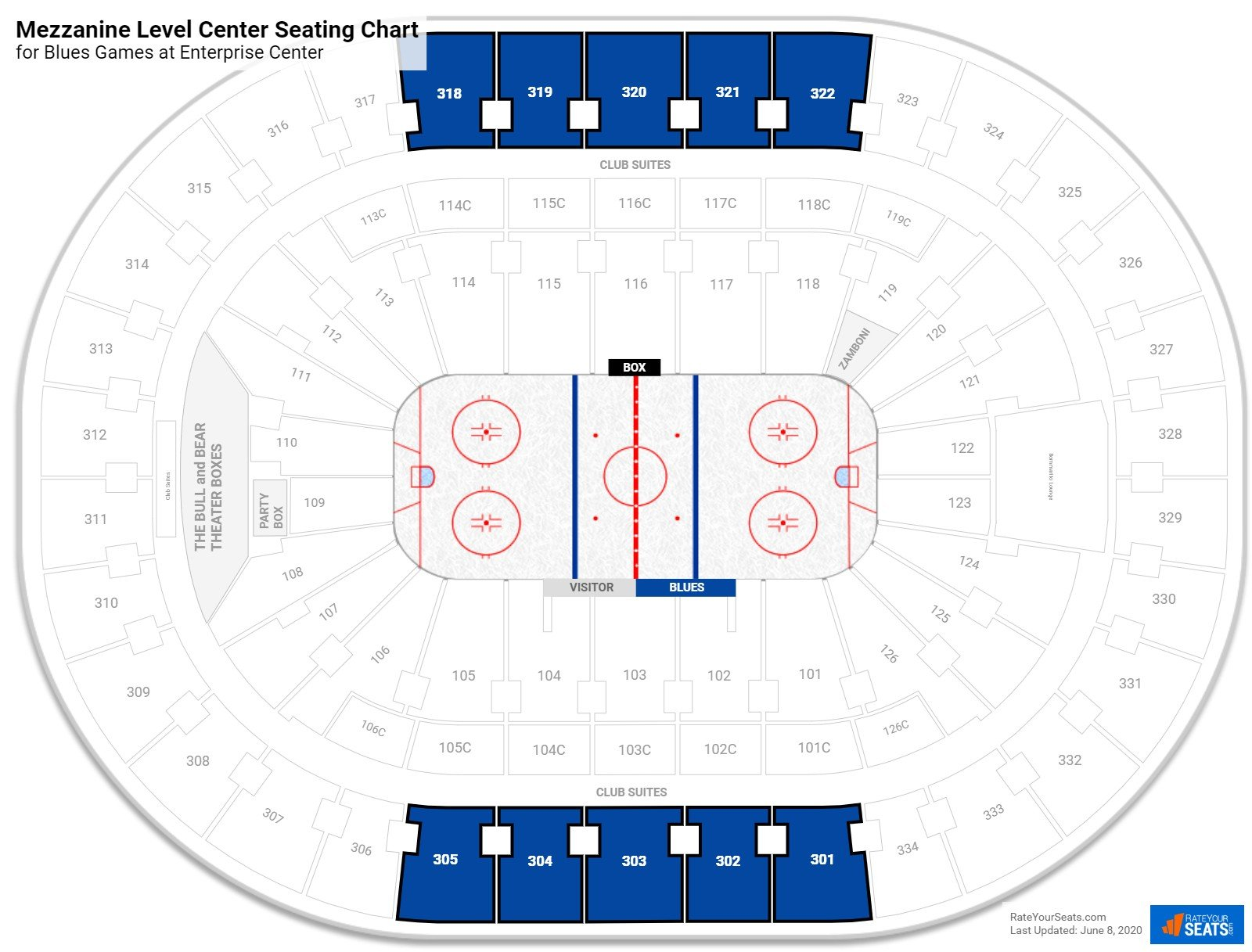 Scottrade Center Mezzanine Level Center seating chart