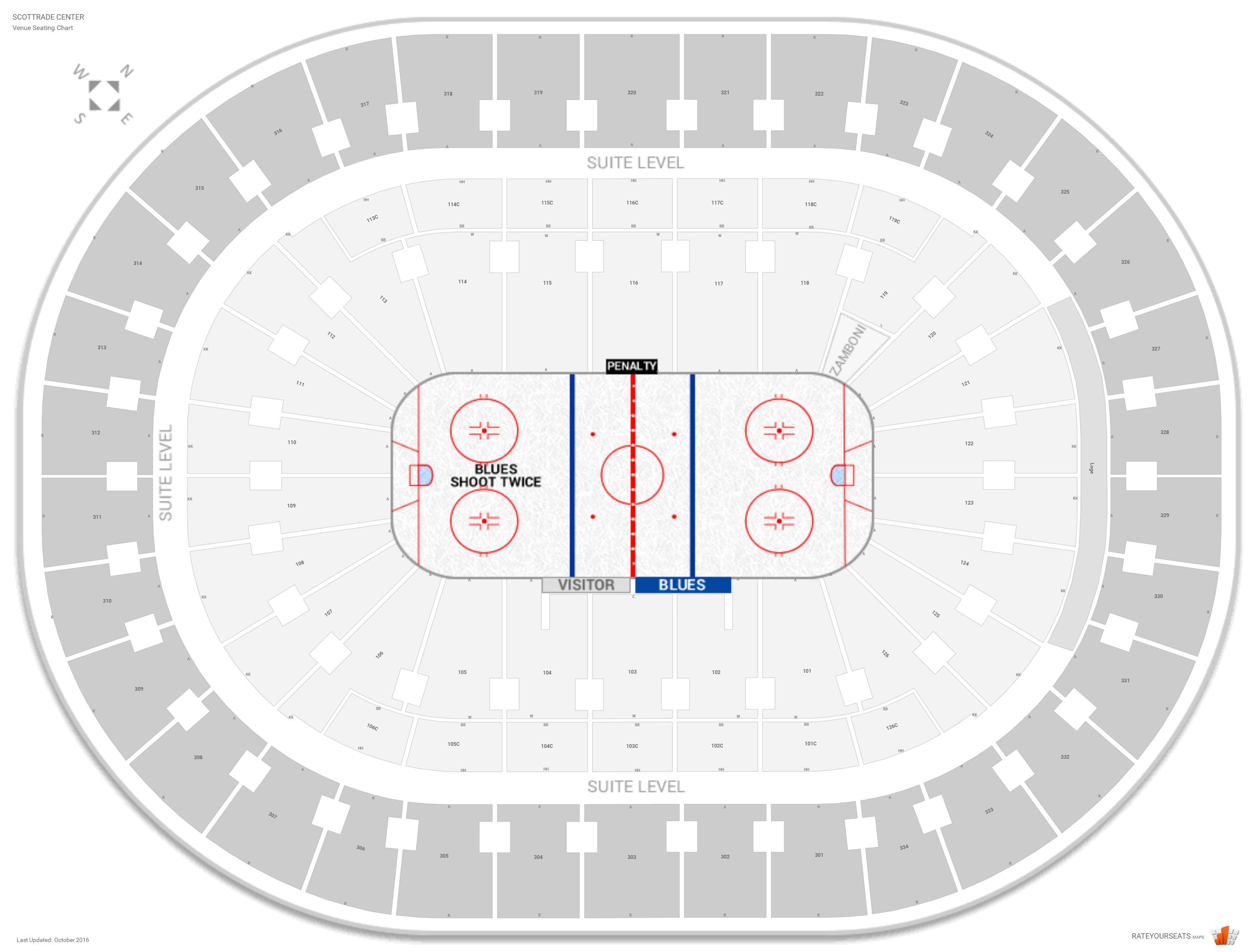 St Louis Blues Seating Guide Enterprise Center Rateyourseatscom