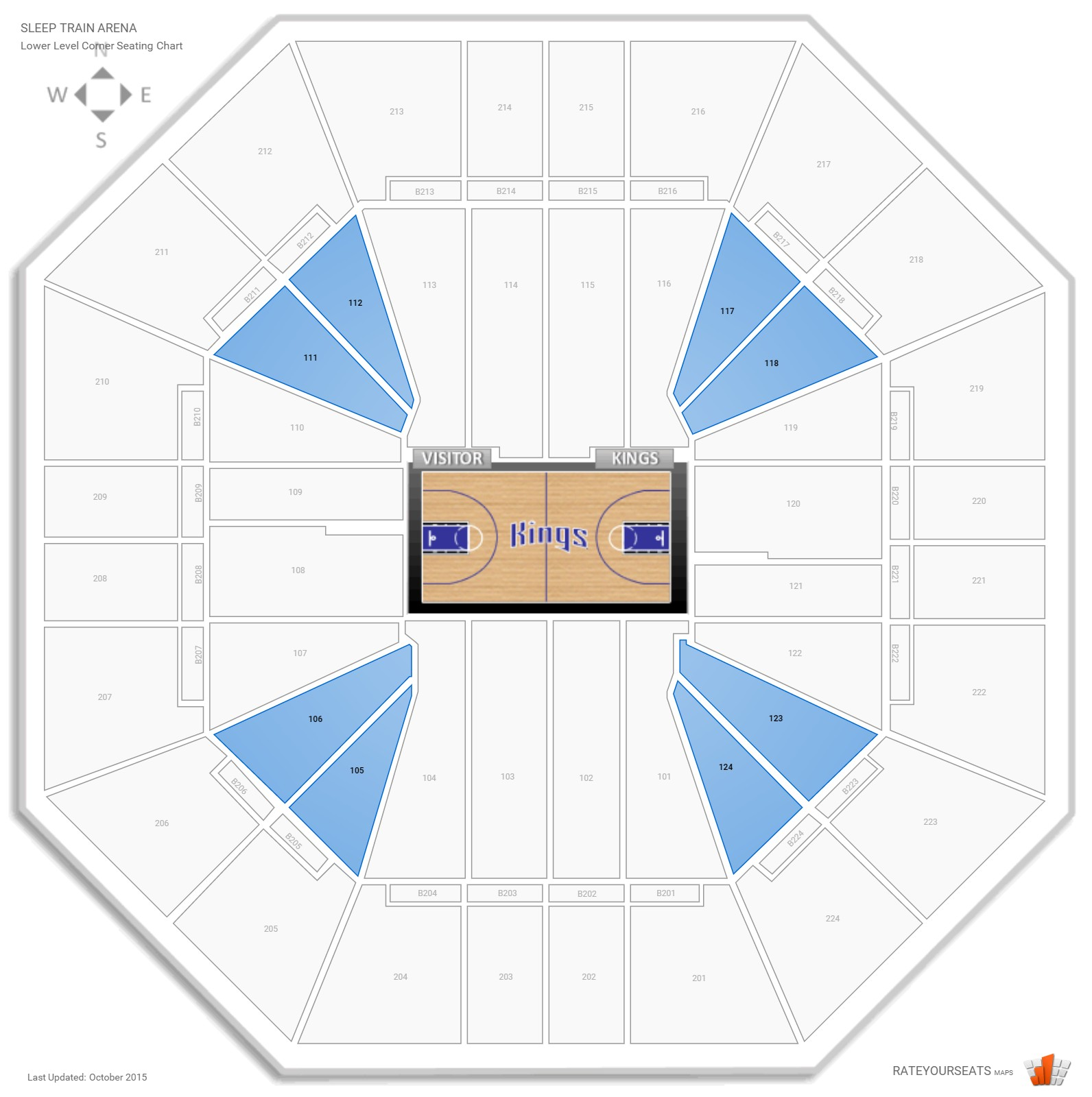 Sleep Train Arena Lower Level Corner seating chart