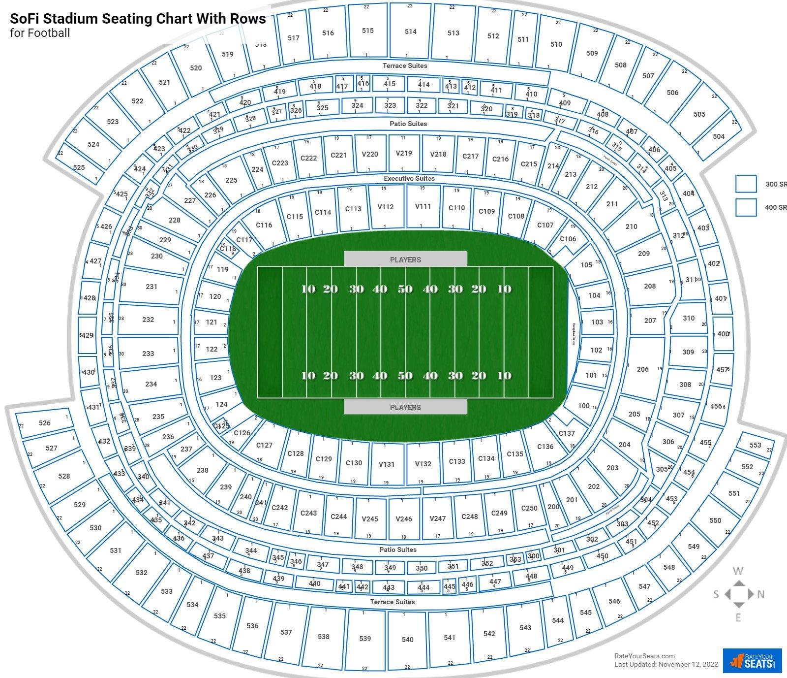 Rams Seating Charts at SoFi Stadium ...